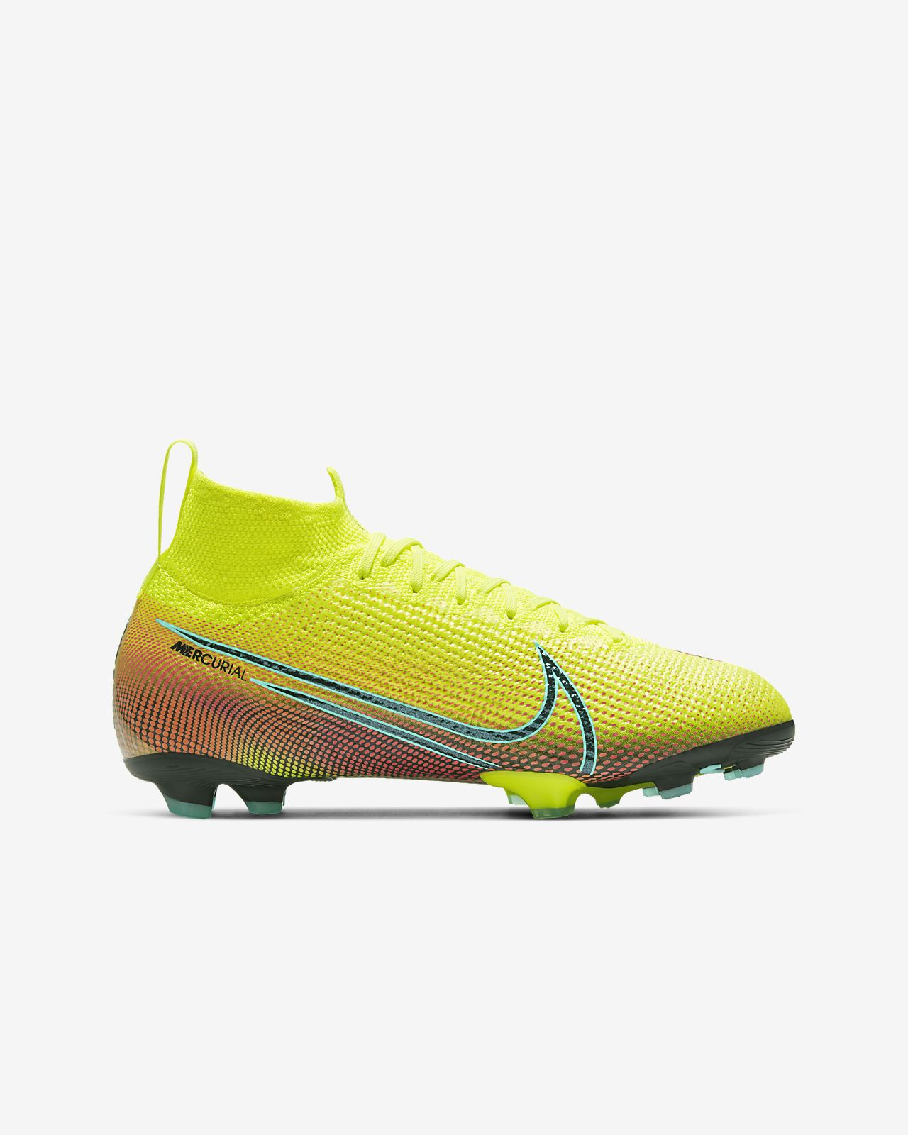 Nike Mercurial Superfly VI 360 Elite FG Fotbollsskor Barn Svart Orange