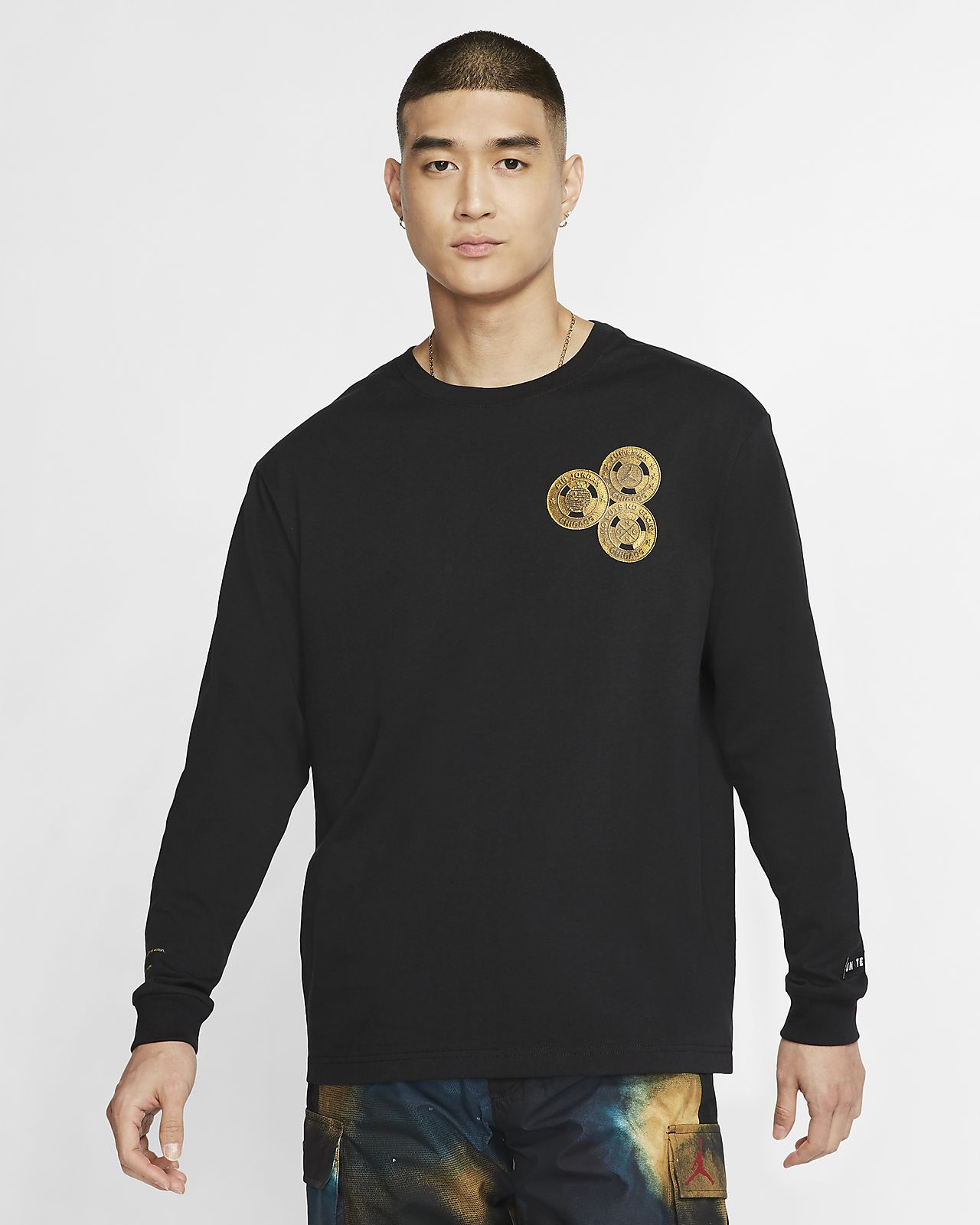 Drew The Barber: The Jordan Chicago Collaborators' Collection Men's Long-Sleeve T-Shirt