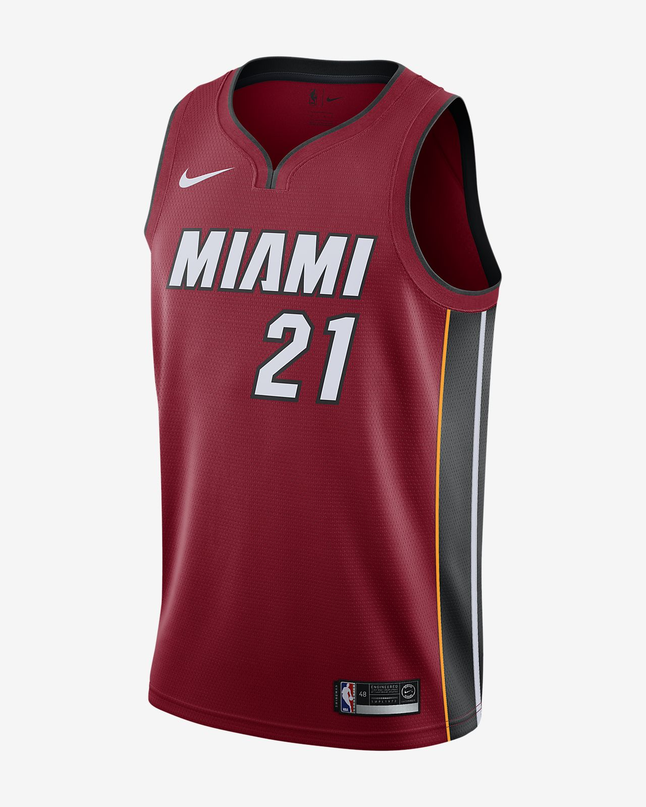 81f3078ea55 Men s Nike NBA Connected Jersey. Hassan Whiteside Statement Edition  Swingman (Miami Heat)
