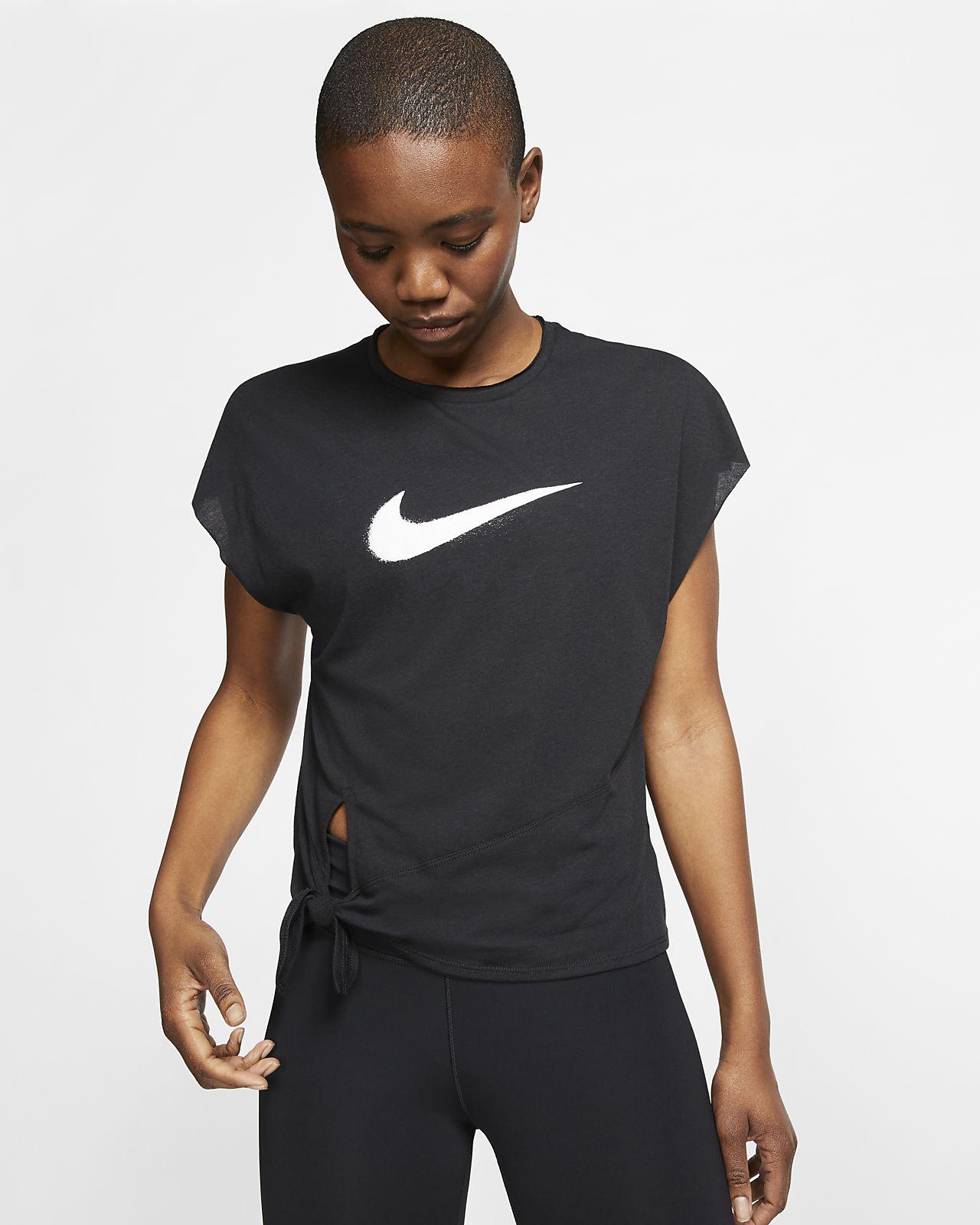 Nike Dri-FIT-kortærmet træningsoverdel til kvinder