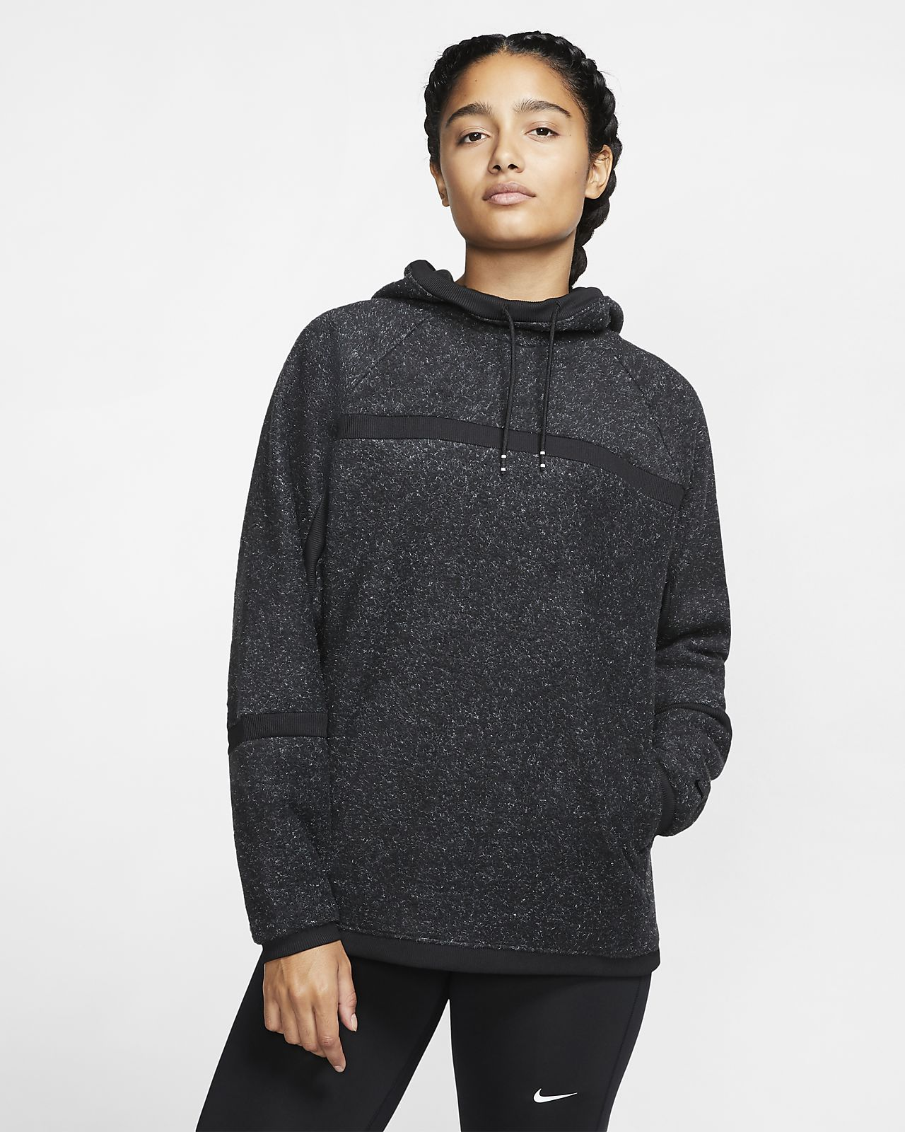 Nike Therma Logo Fleece Training Hoodie Available on Black