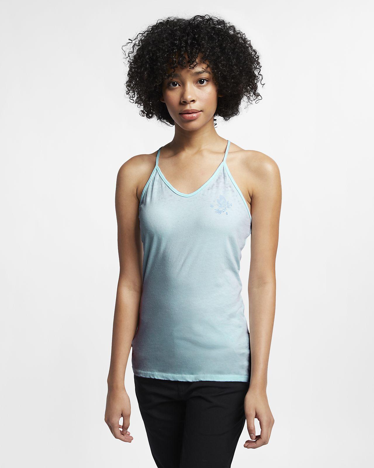 Camisola sem mangas Hurley Sets Burnout para mulher