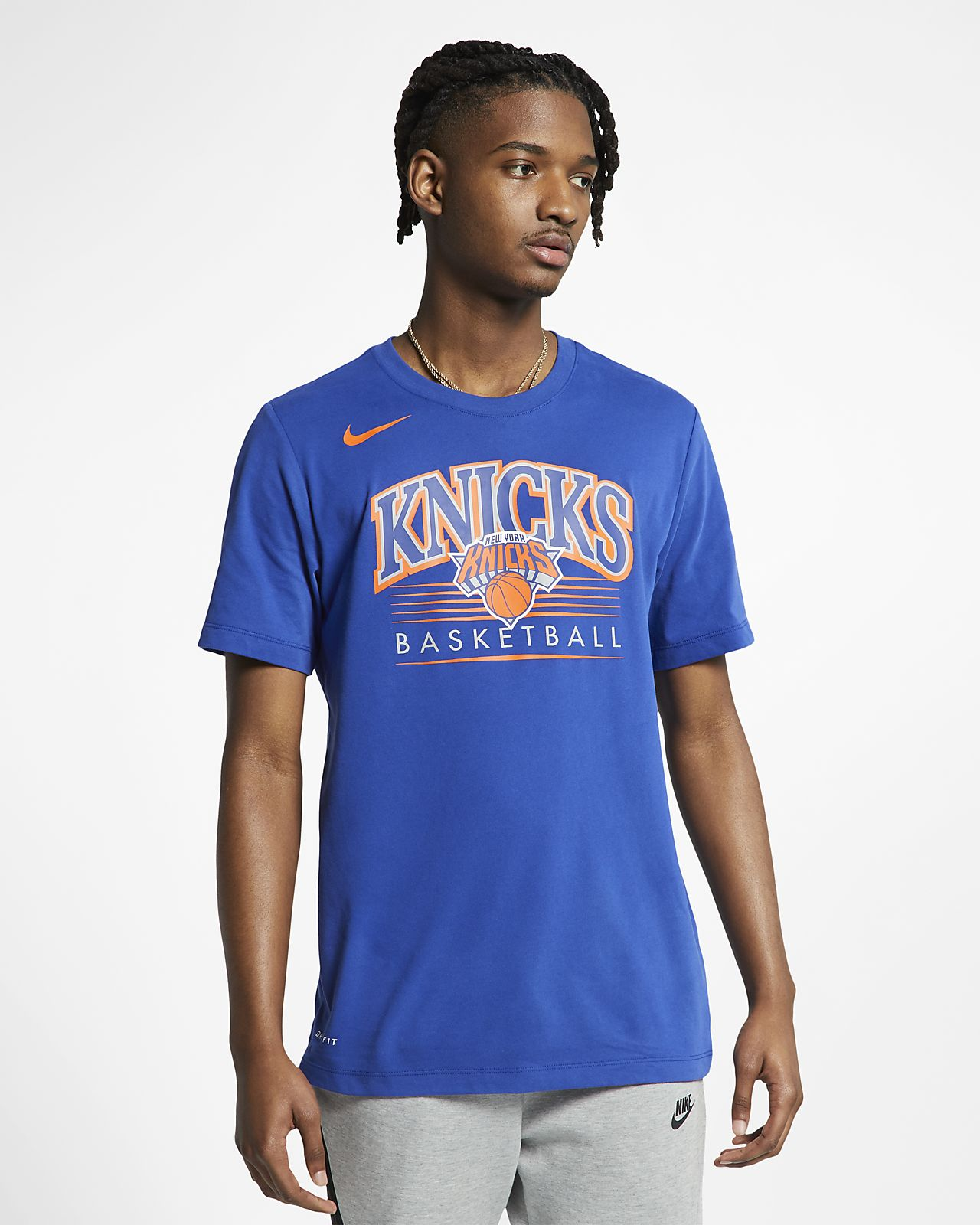 Tee-shirt NBA New York Knicks Nike Dri-FIT pour Homme