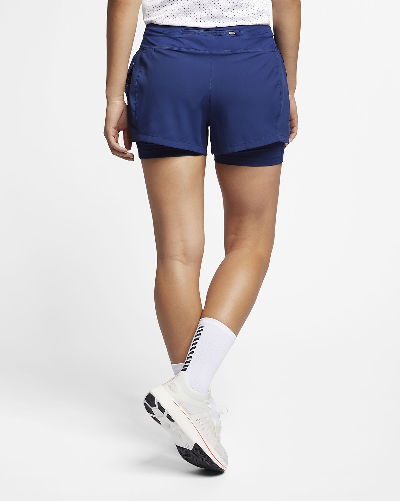 check-out 41808 cd8c8 Shorts de running 2 en 1 para mujer Nike Eclipse