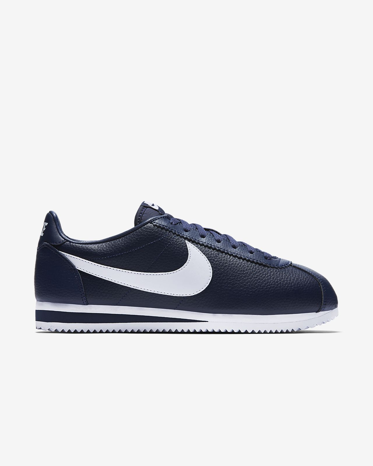 ORIGINALI NIKE CLASSIC CORTEZ LEATHER MIDNIGHT NAVY WHITE Sneaker UNISEX