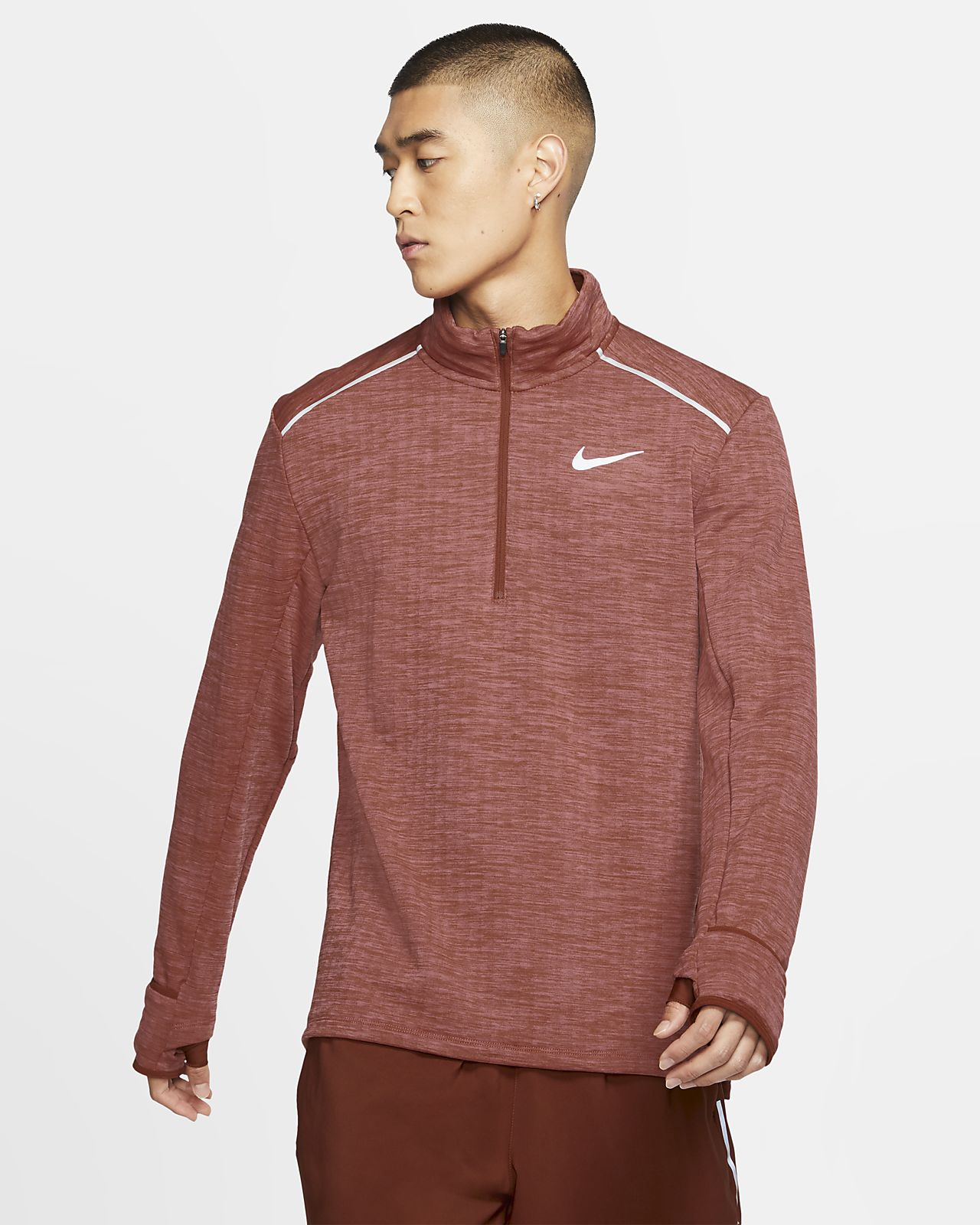 Pánské běžecké tričko Nike Therma Sphere 3.0 s polovičním zipem