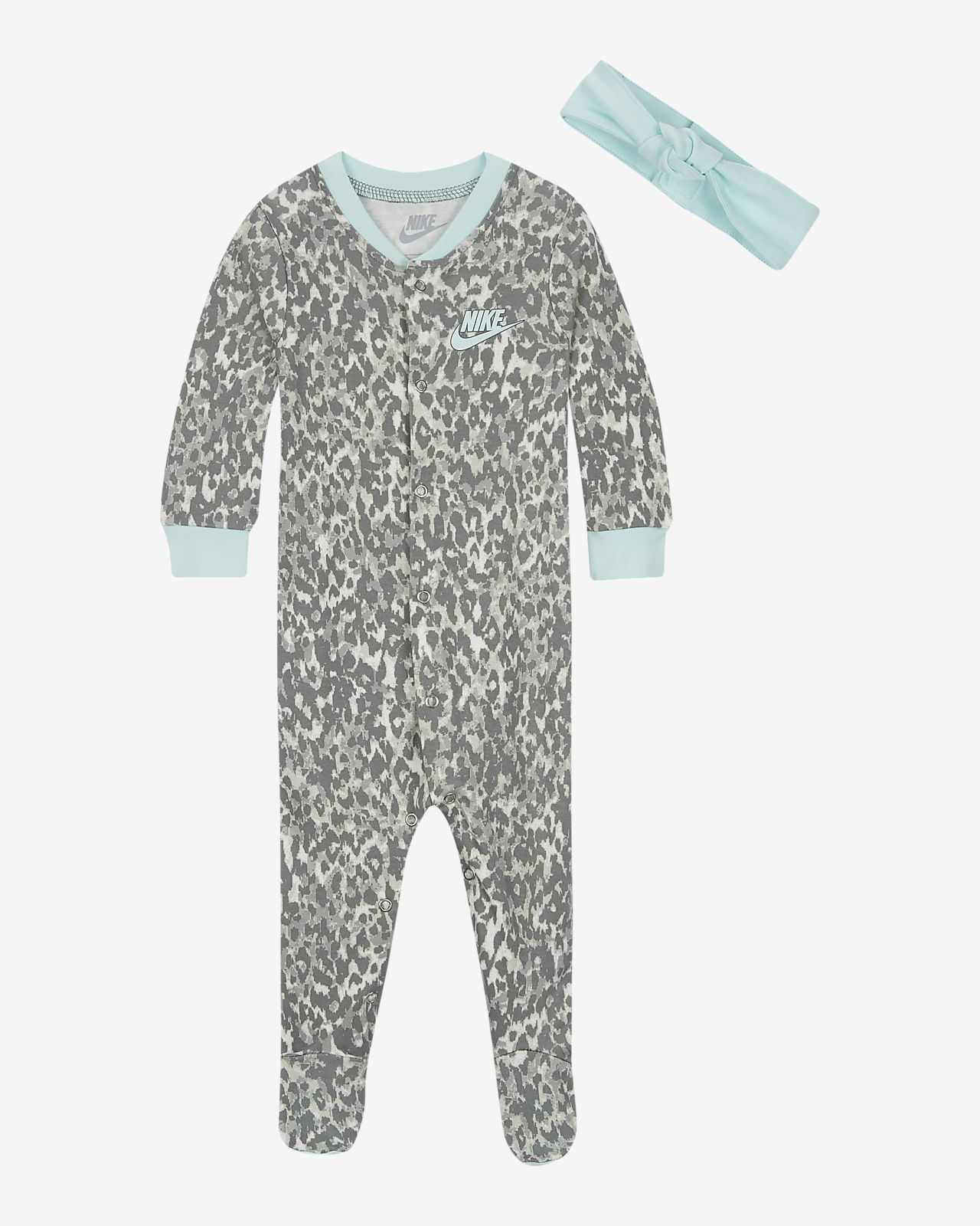 Nike Baby (0–9M) Overalls and Headband Set