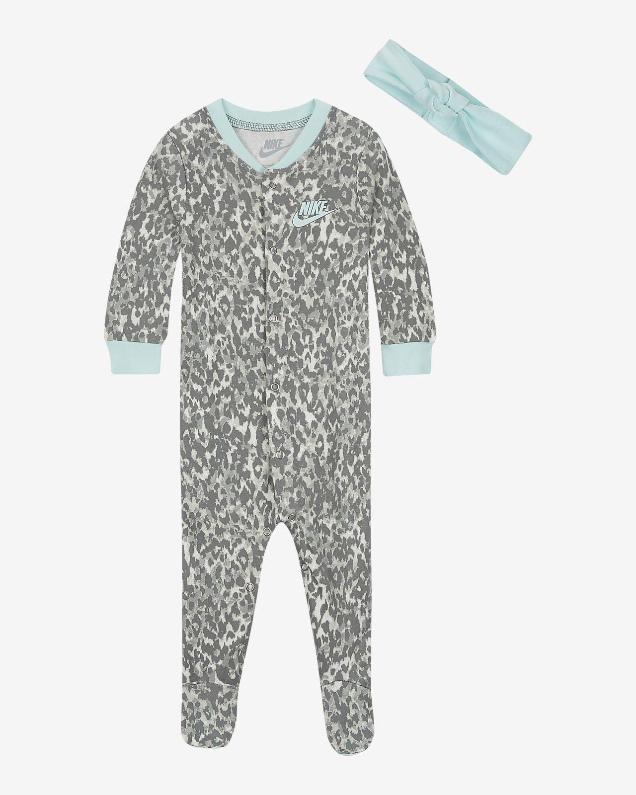 Nike-sæt med heldragt og pandebånd til babyer (0-9 M)