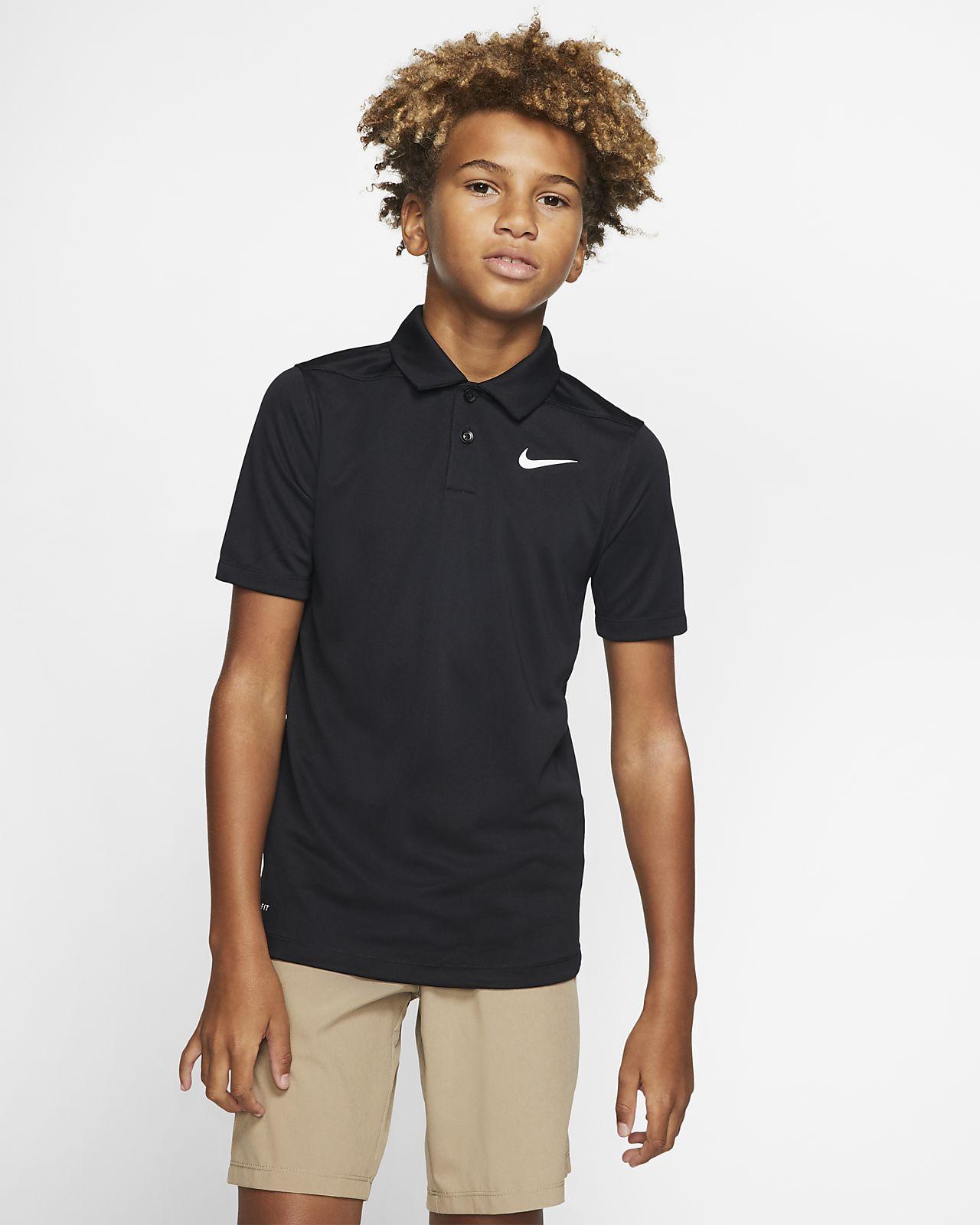 Nike Dri-FIT Victory golfskjorte for store barn (gutt)