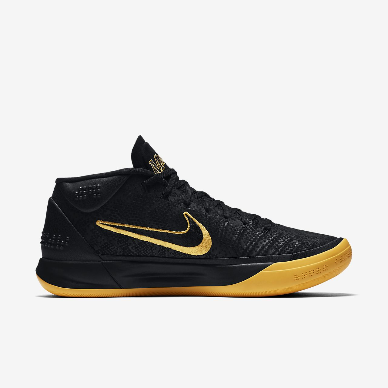 mens all black air max kobe black mamba shoes