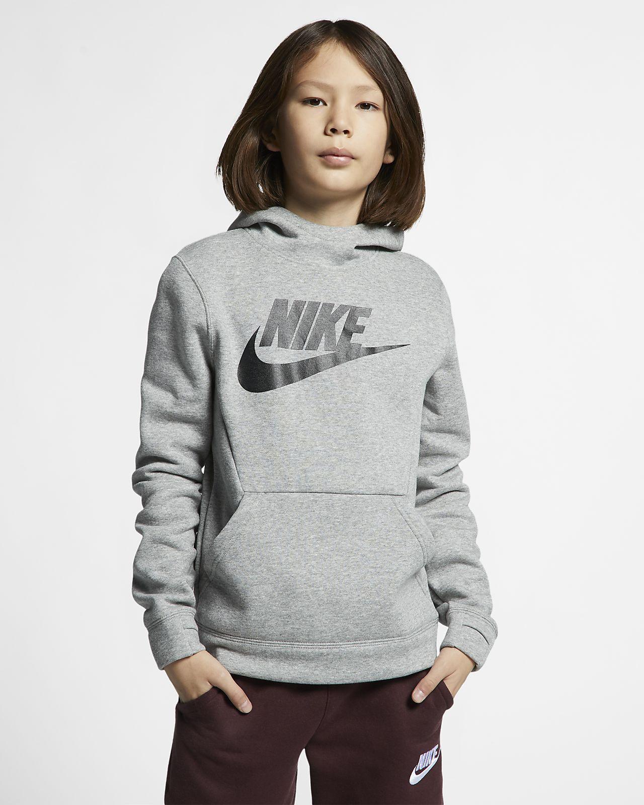 Flísová mikina s kapucí Nike Sportswear pro větší děti