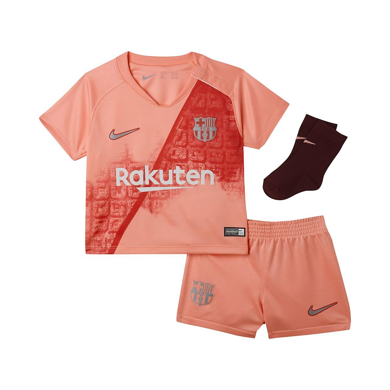 ae08e9c0e 2018 19 FC Barcelona Stadium Third Baby and Toddler Football Kit ...