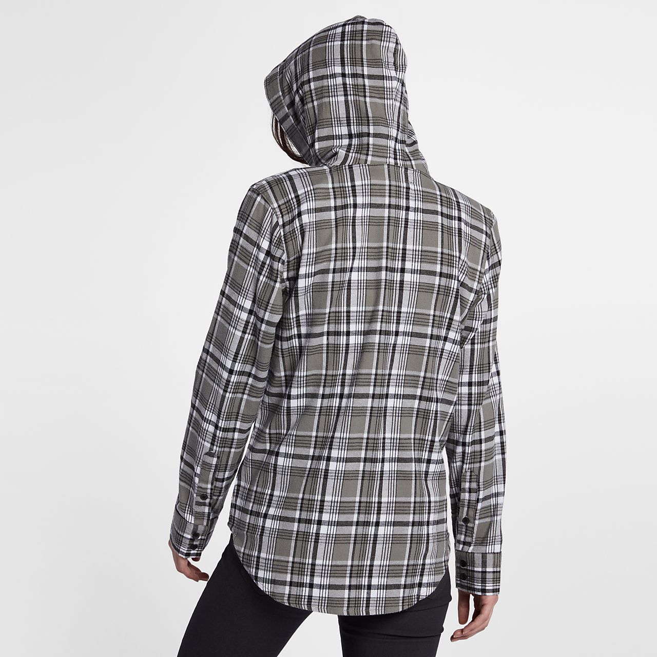 nike windbreaker jacket womens black and white plaid shirt