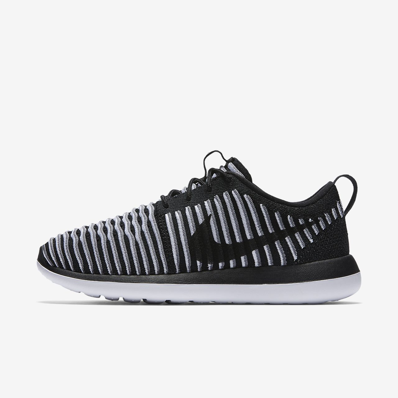Nike Roshe Two Flyknit Womens Shoes Black White Cool Grey 001 Multiple Sizes