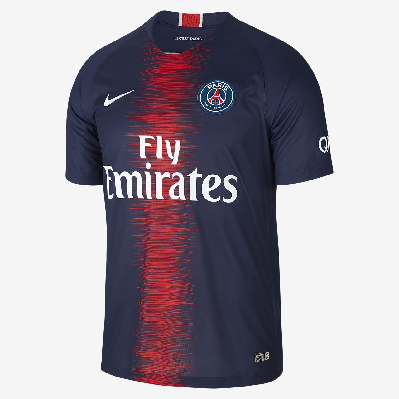 Camiseta de fútbol para hombre 2018/19 Paris Saint-Germain Stadium Home