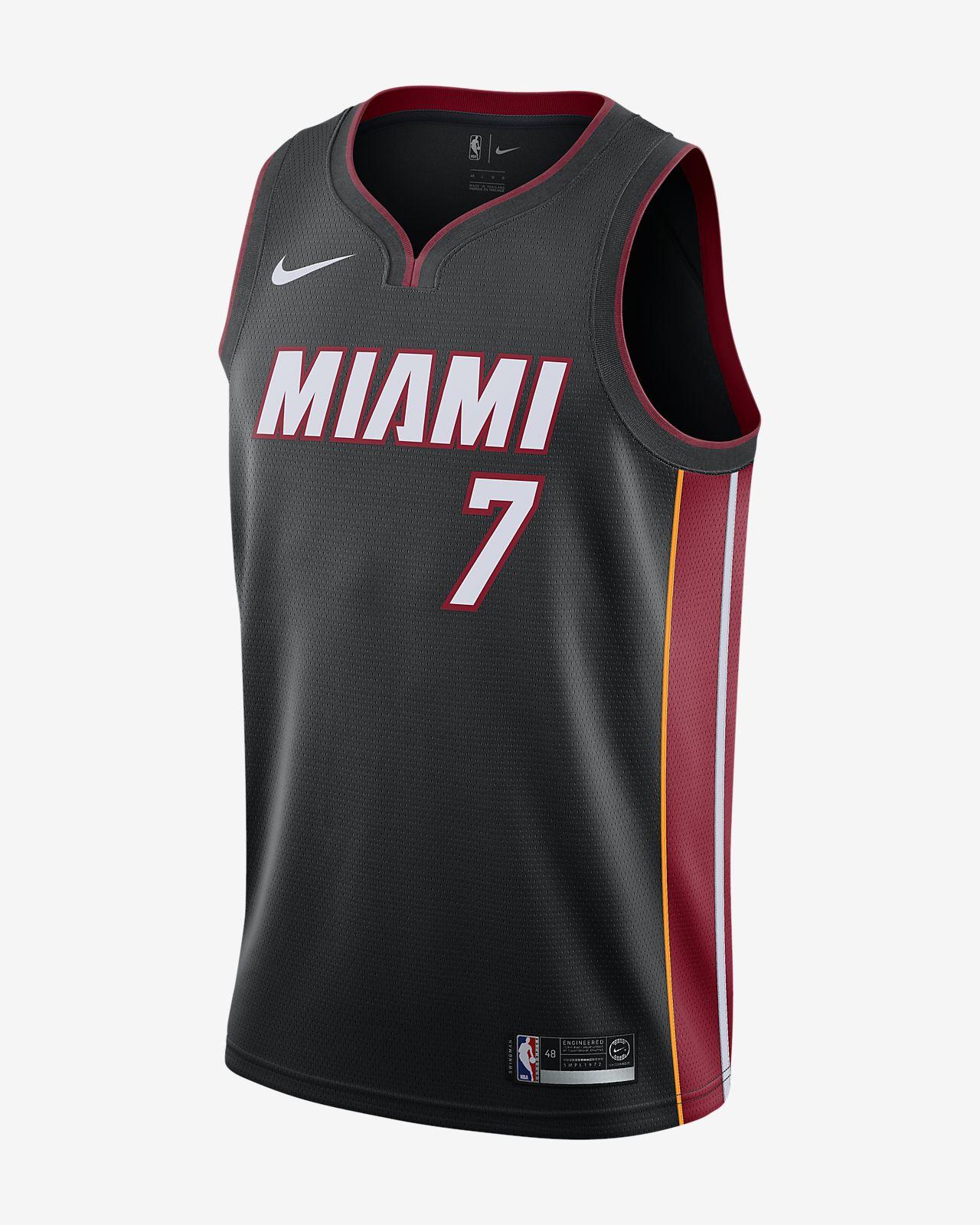 e4a6f126067d3 ... Camiseta conectada Nike NBA para hombre Goran Dragić Icon Edition  Swingman Jersey (Miami Heat)