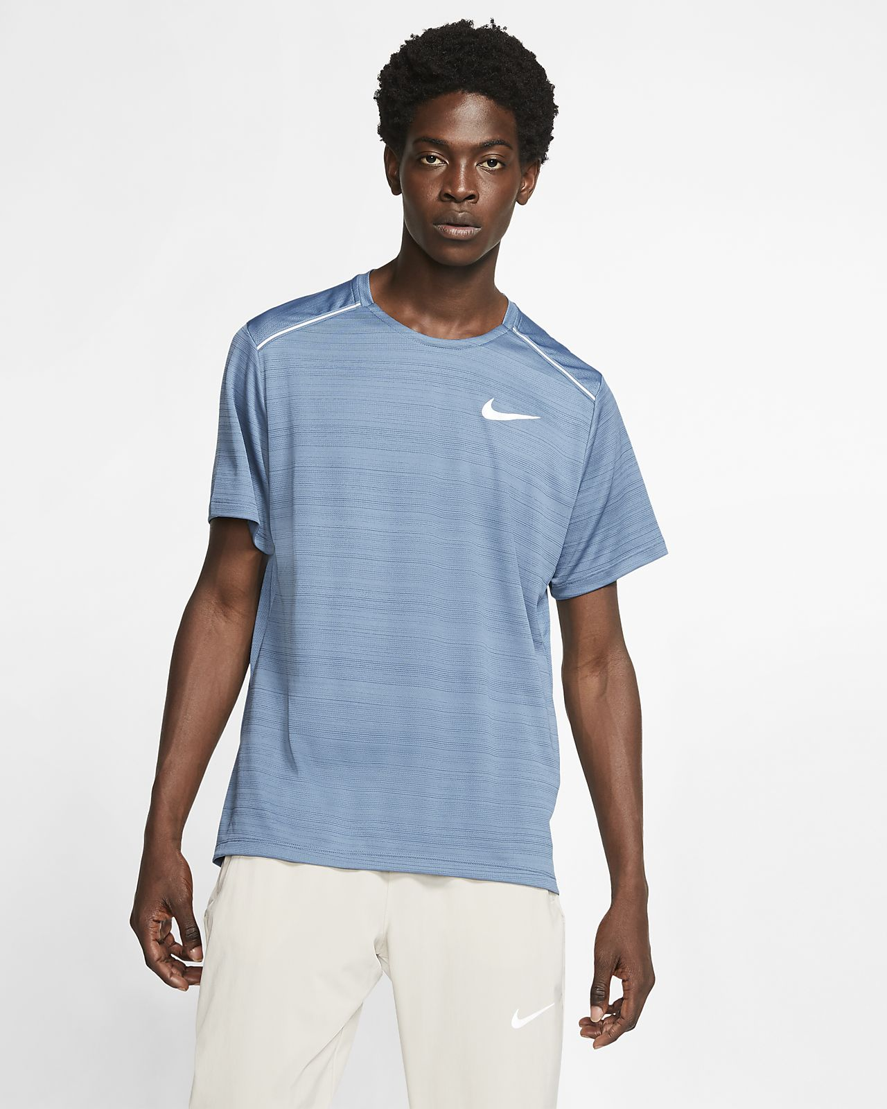 Haut de running à manches courtes Nike Dri FIT Miler pour Homme