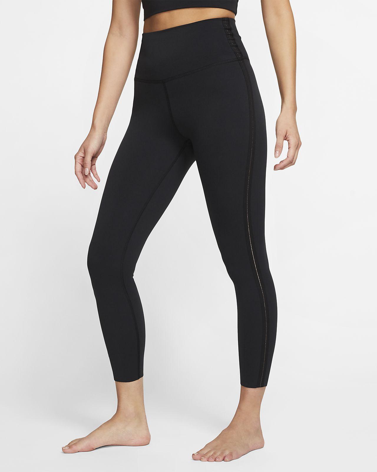 Nike Yoga Luxe 7/8-os női testhezálló fémes nadrág