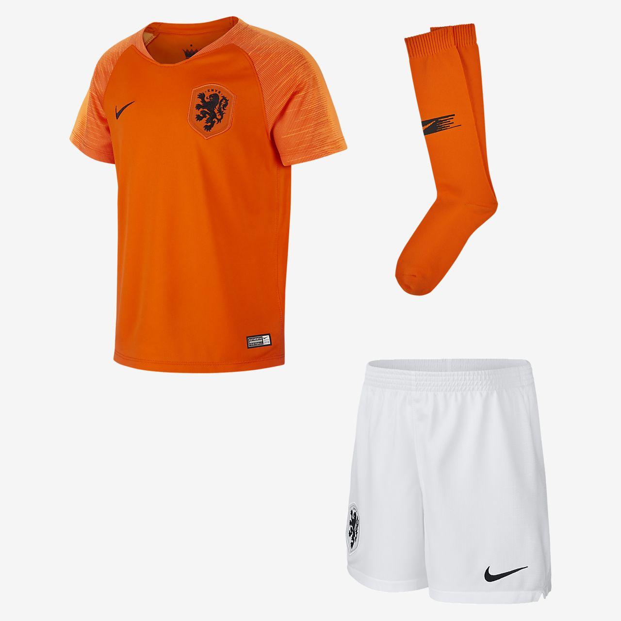 Kit de fútbol para niños talla pequeña de local Stadium de Países Bajos 2018/19
