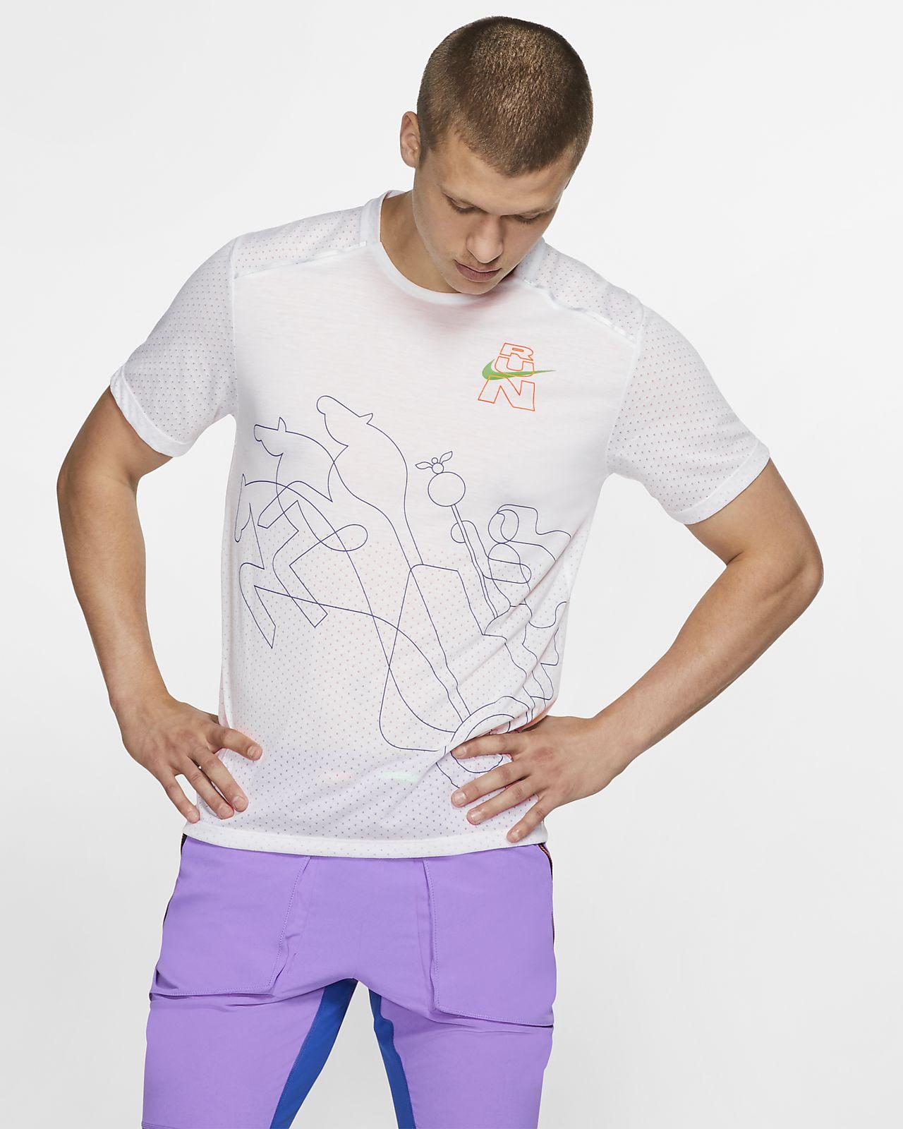 Nike Rise 365 Berlin kortermet løpeoverdel til herre