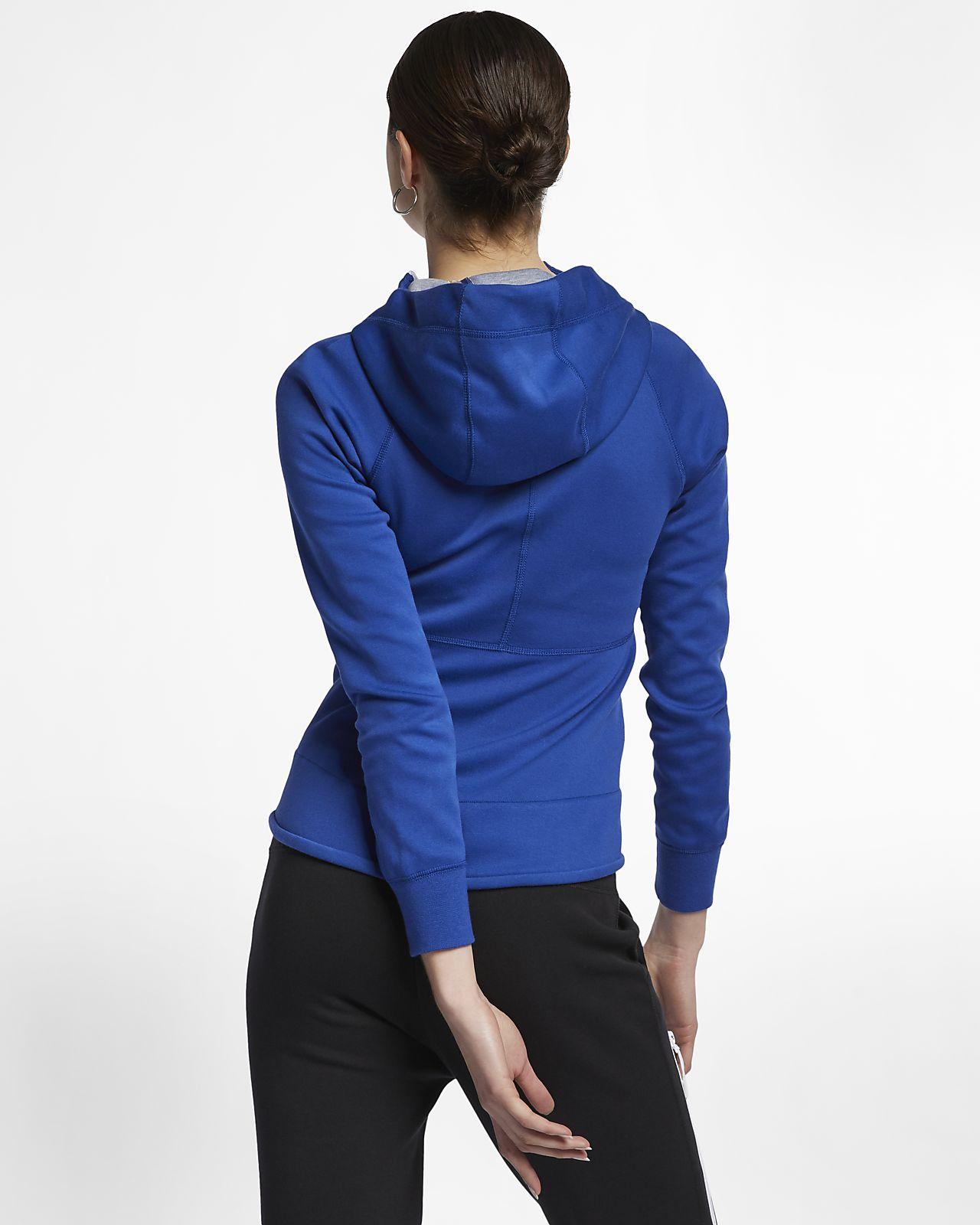 6d08ed911ddd ... Γυναικεία μπλούζα με κουκούλα και φερμουάρ Nike Sportswear Tech Fleece  Windrunner