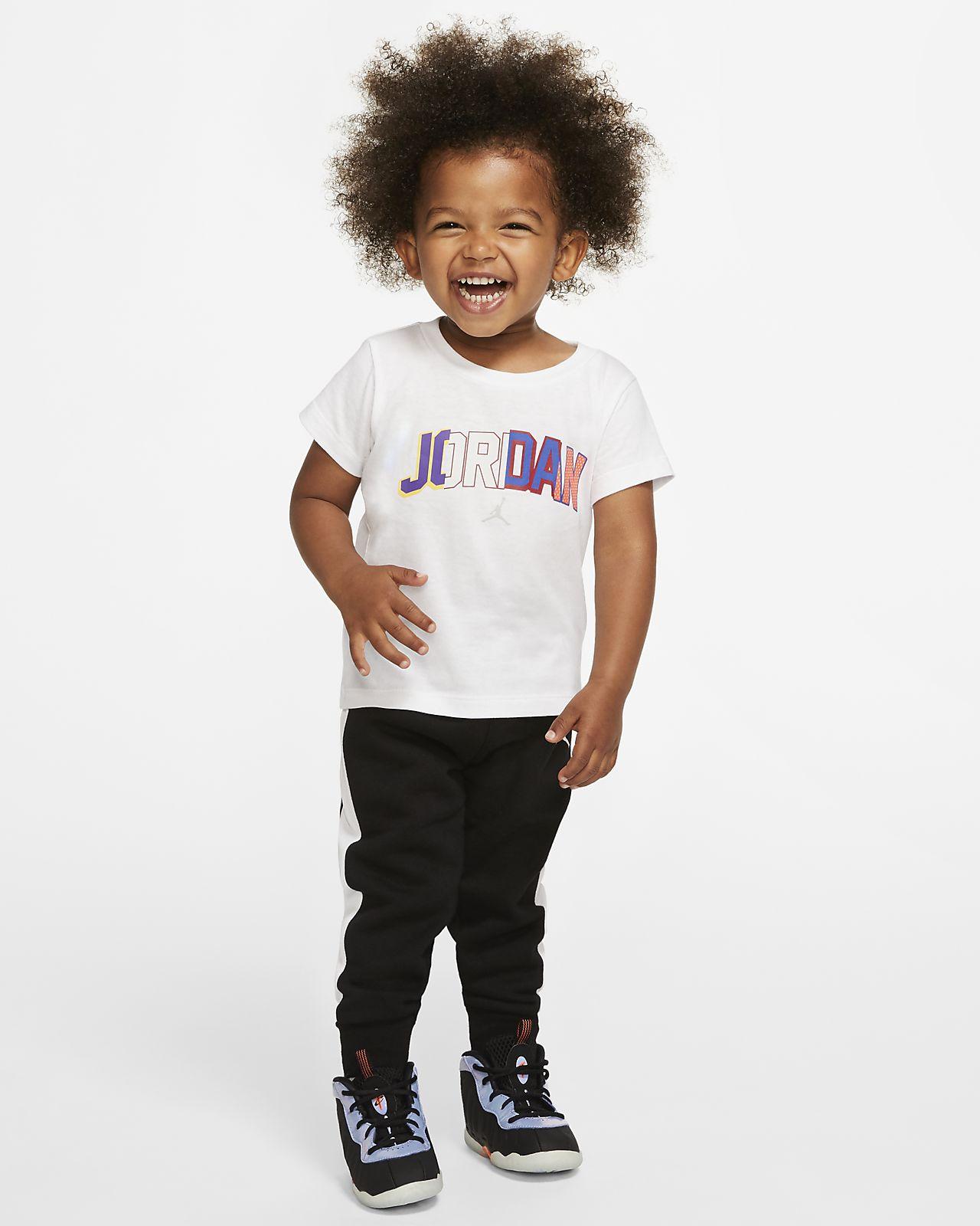 Completo in 2 pezzi con t-shirt e pantaloni jogger Jordan - Neonati