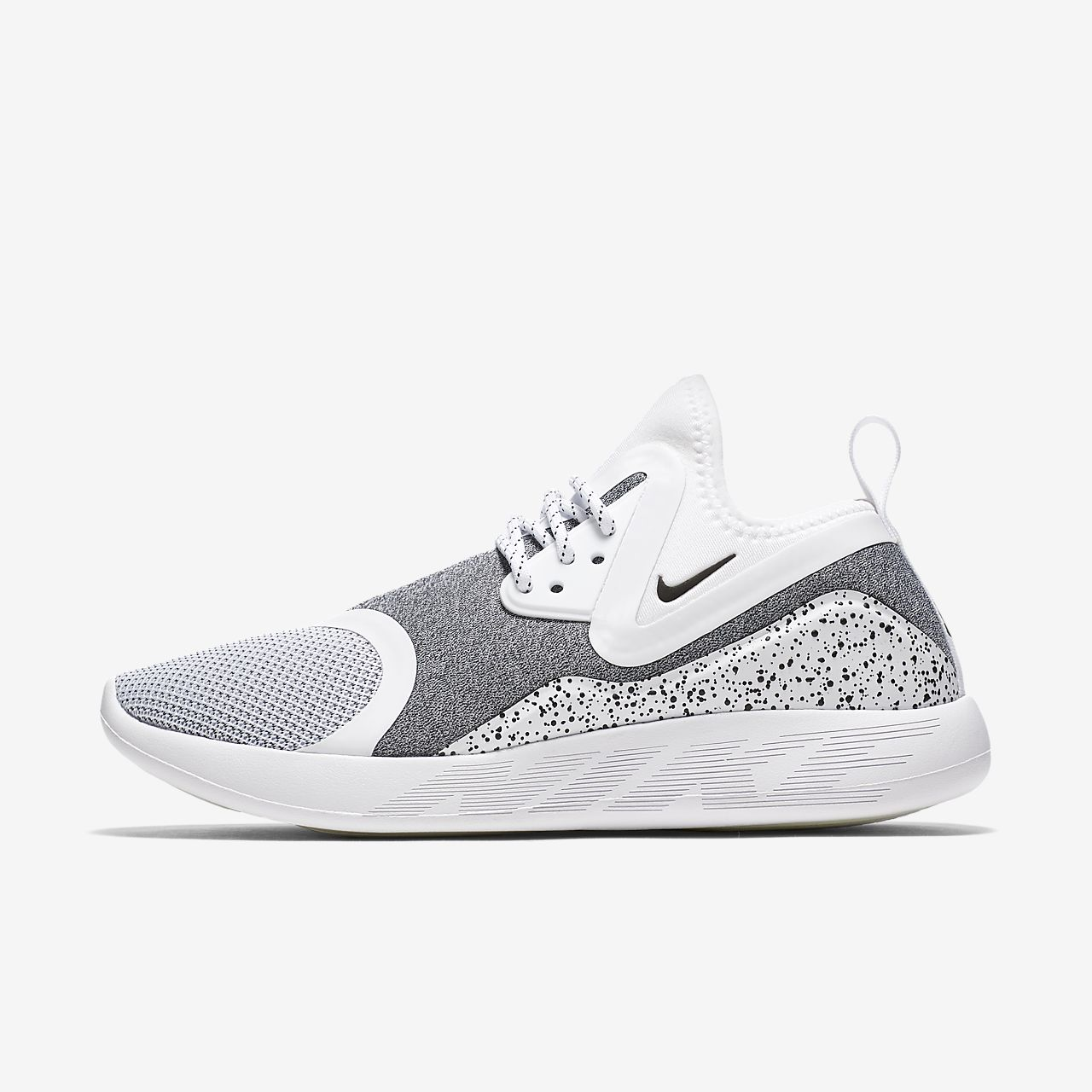 Nike Lunarcharge Essential Womens Shoe Size 6.5 Running White Black Grey
