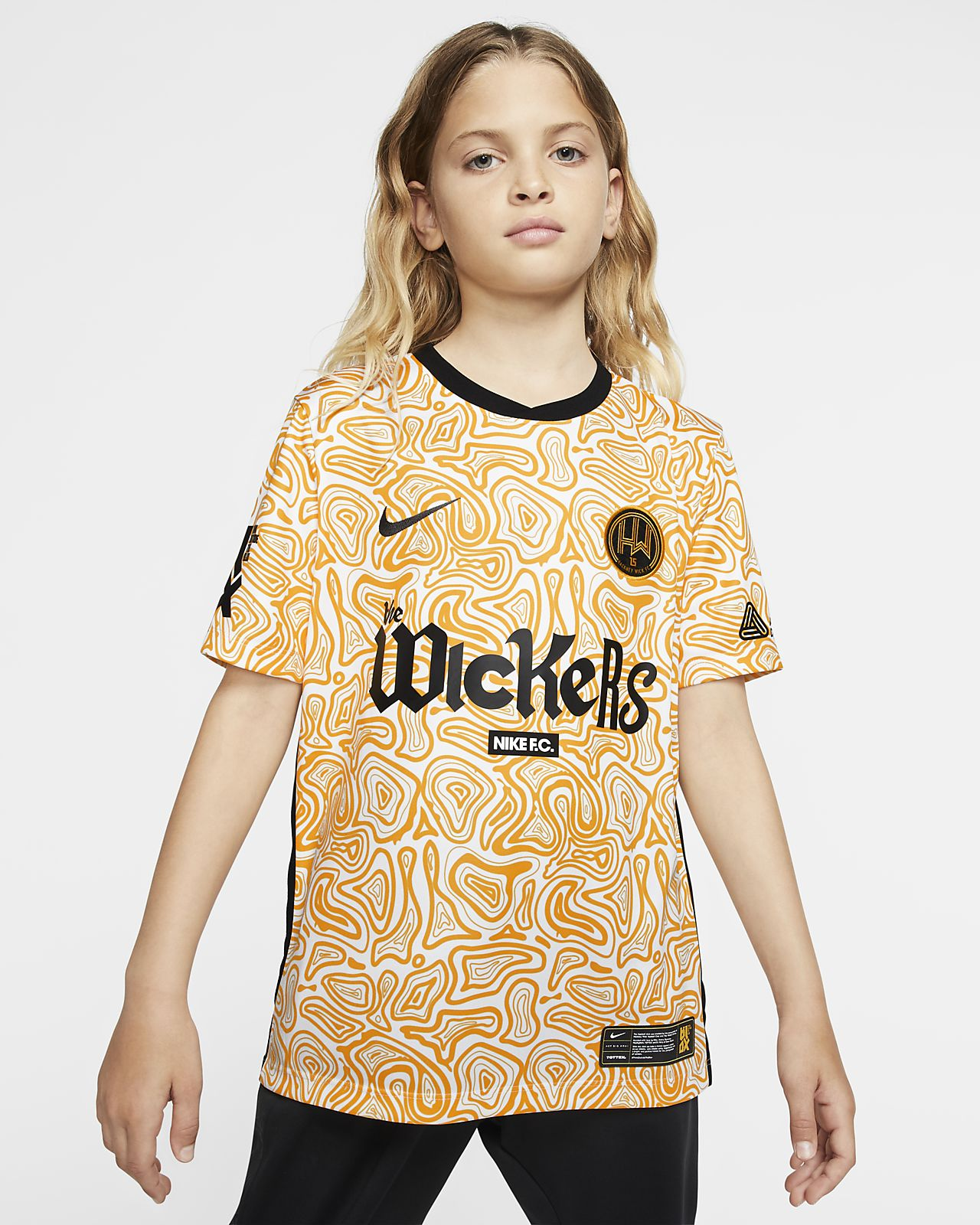 Hackney Wick FC Away Older Kids' Football Shirt