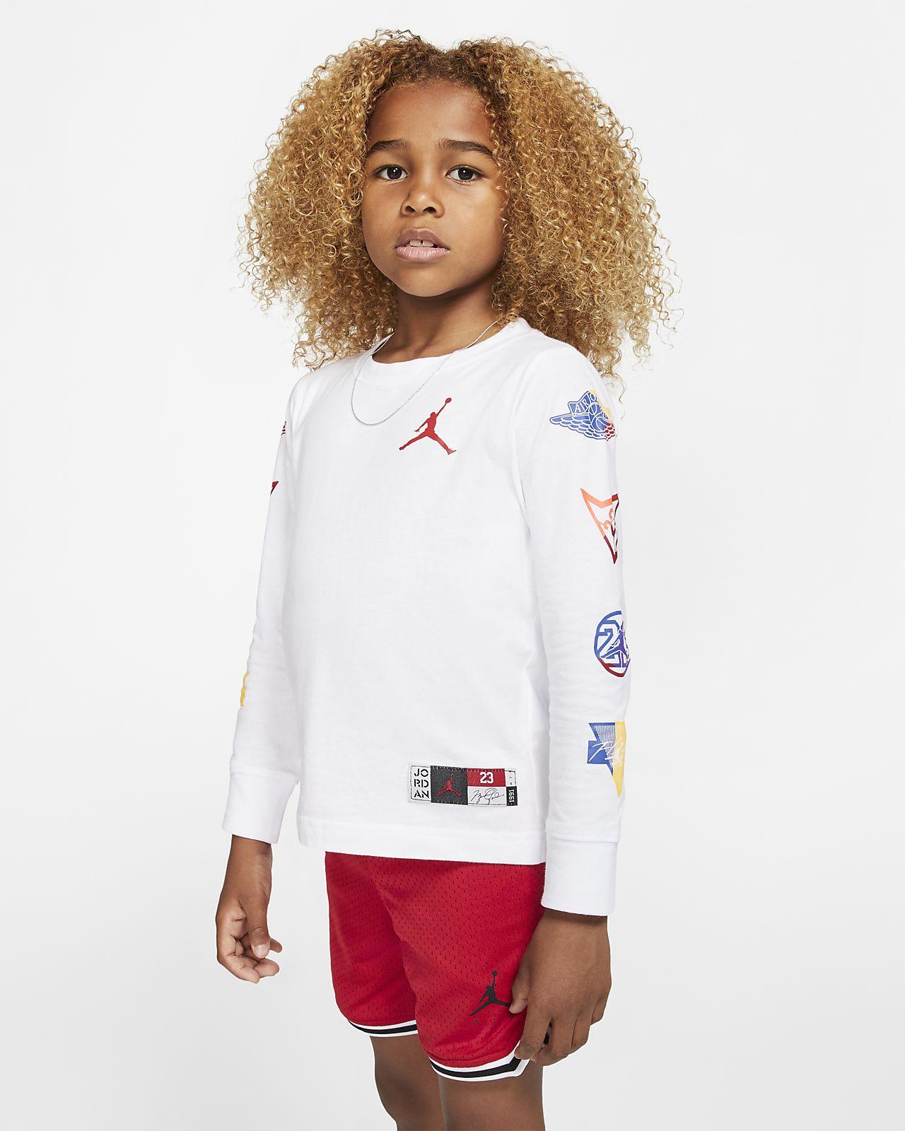 Långärmad t-shirt Jordan Jumpman för barn