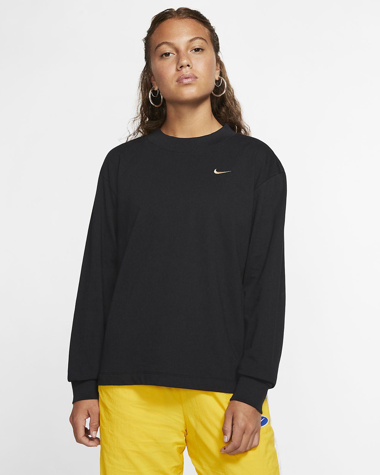 Shirts & Tops | Nike Damen AIR CROP BlackWhite — Eremea