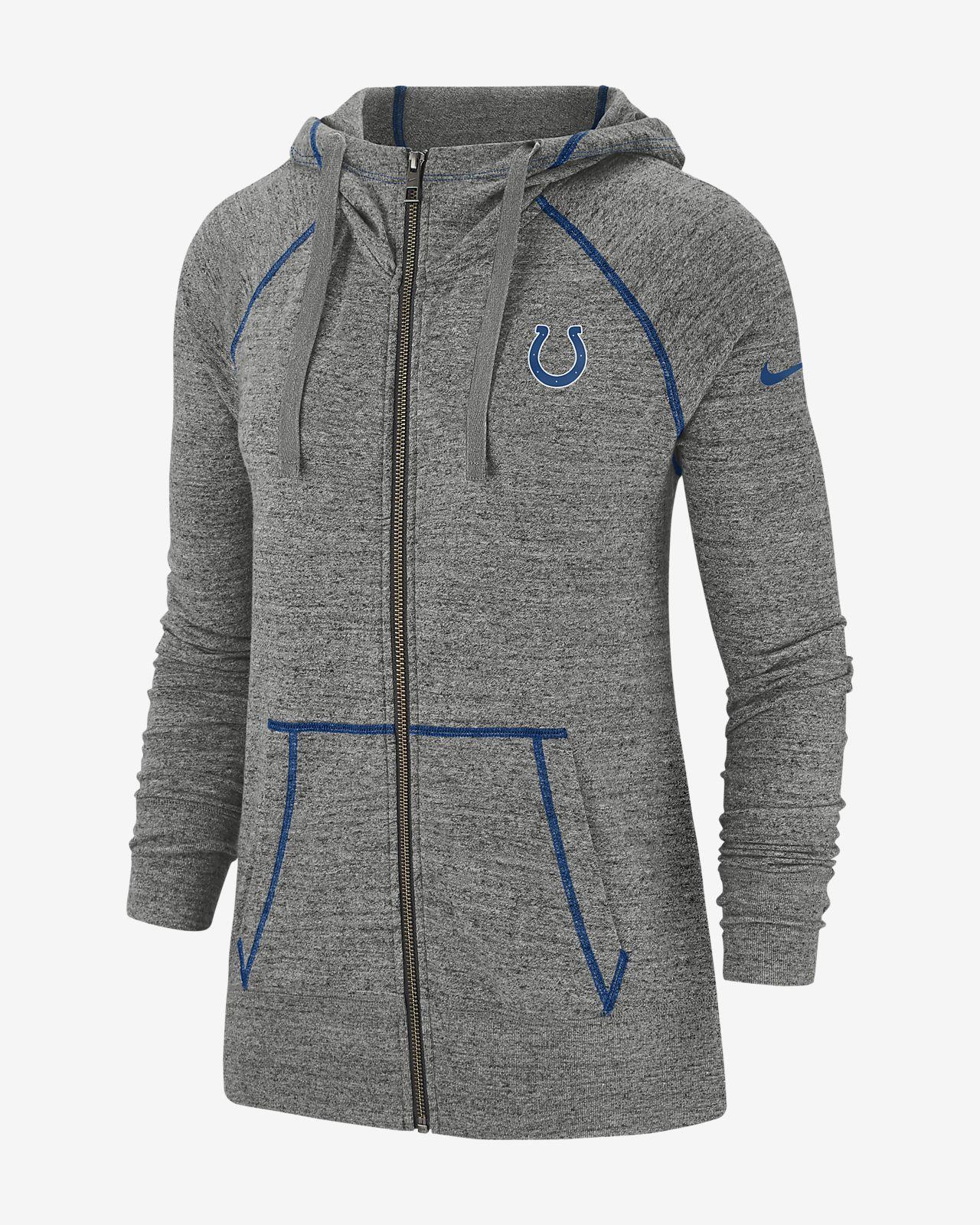 newest 75192 2ed63 Nike Gym Vintage (NFL Colts) Women's Full-Zip Hoodie