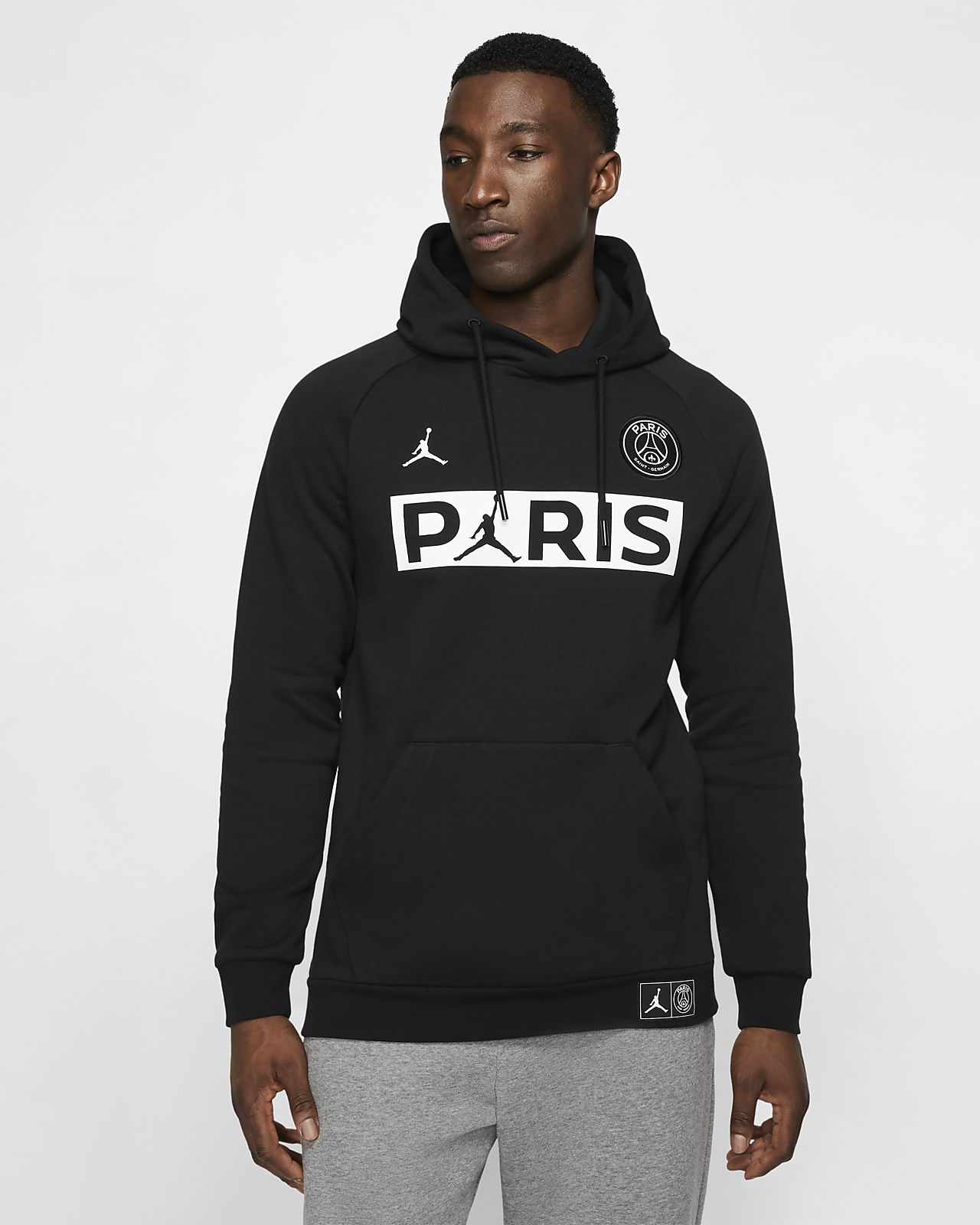 Flísová mikina Paris Saint-Germain s kapucí