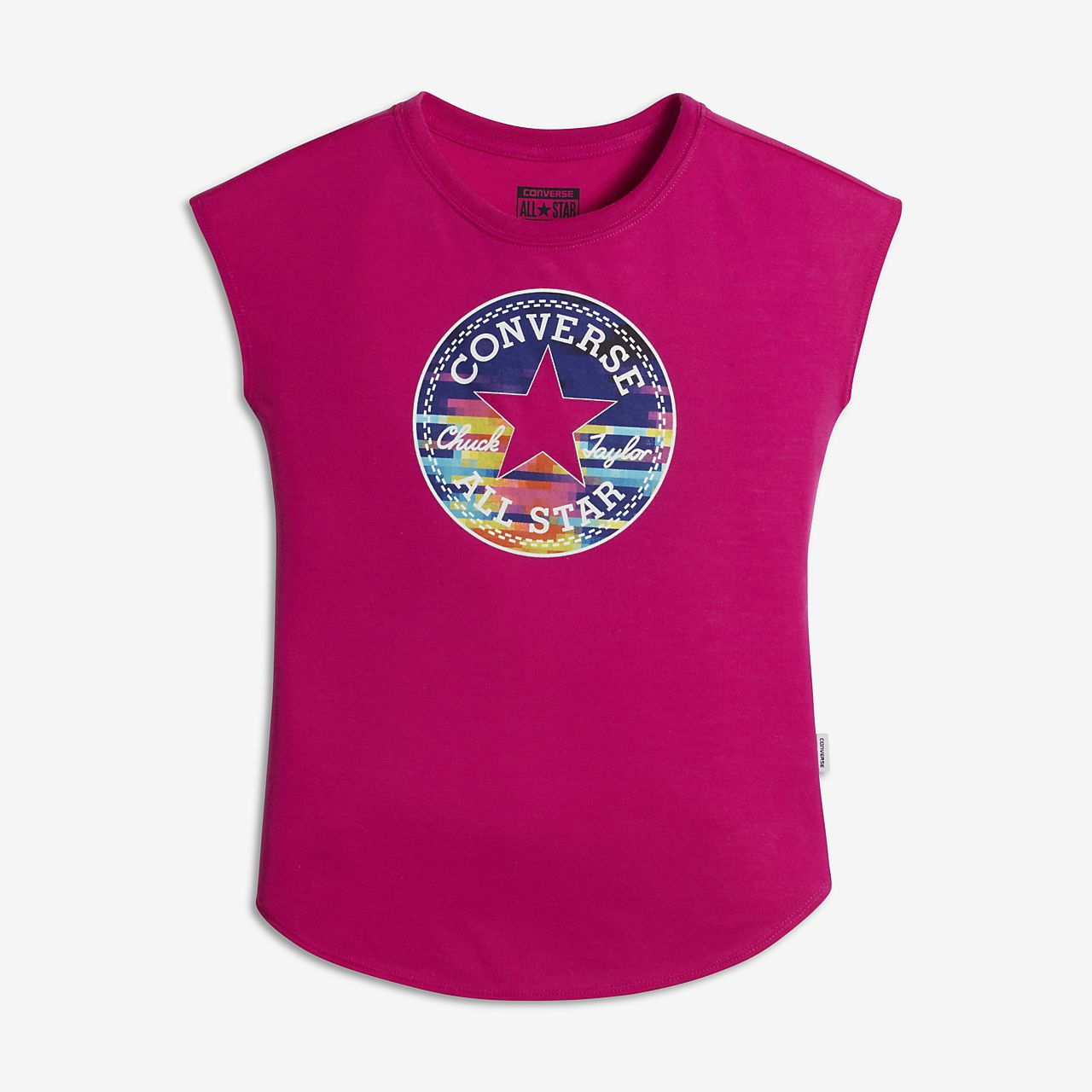Converse Gradient Fill Big Kids' Muscle Tank Tops Magenta