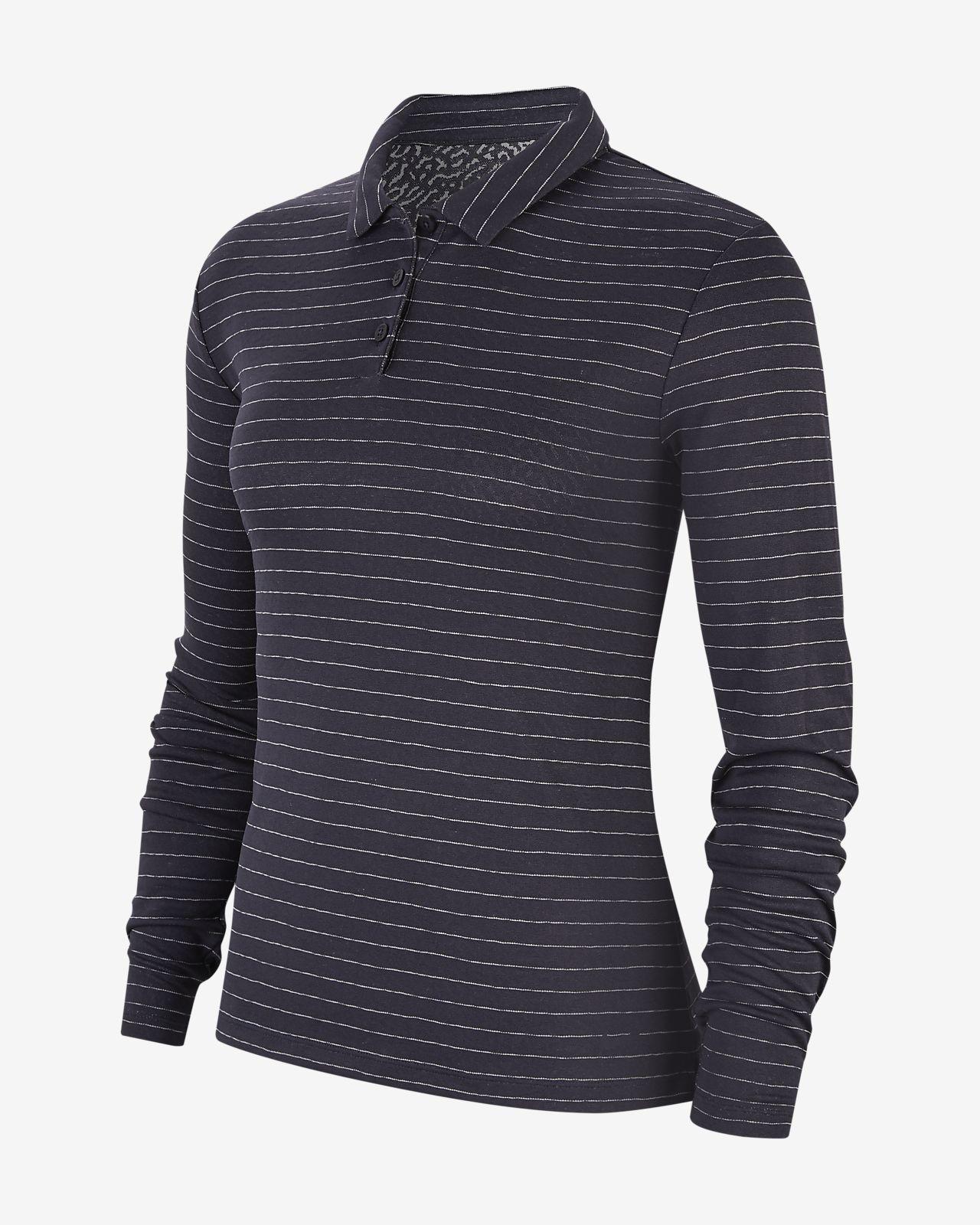 Женская рубашка-поло с длинным рукавом для гольфа Nike Dri-FIT