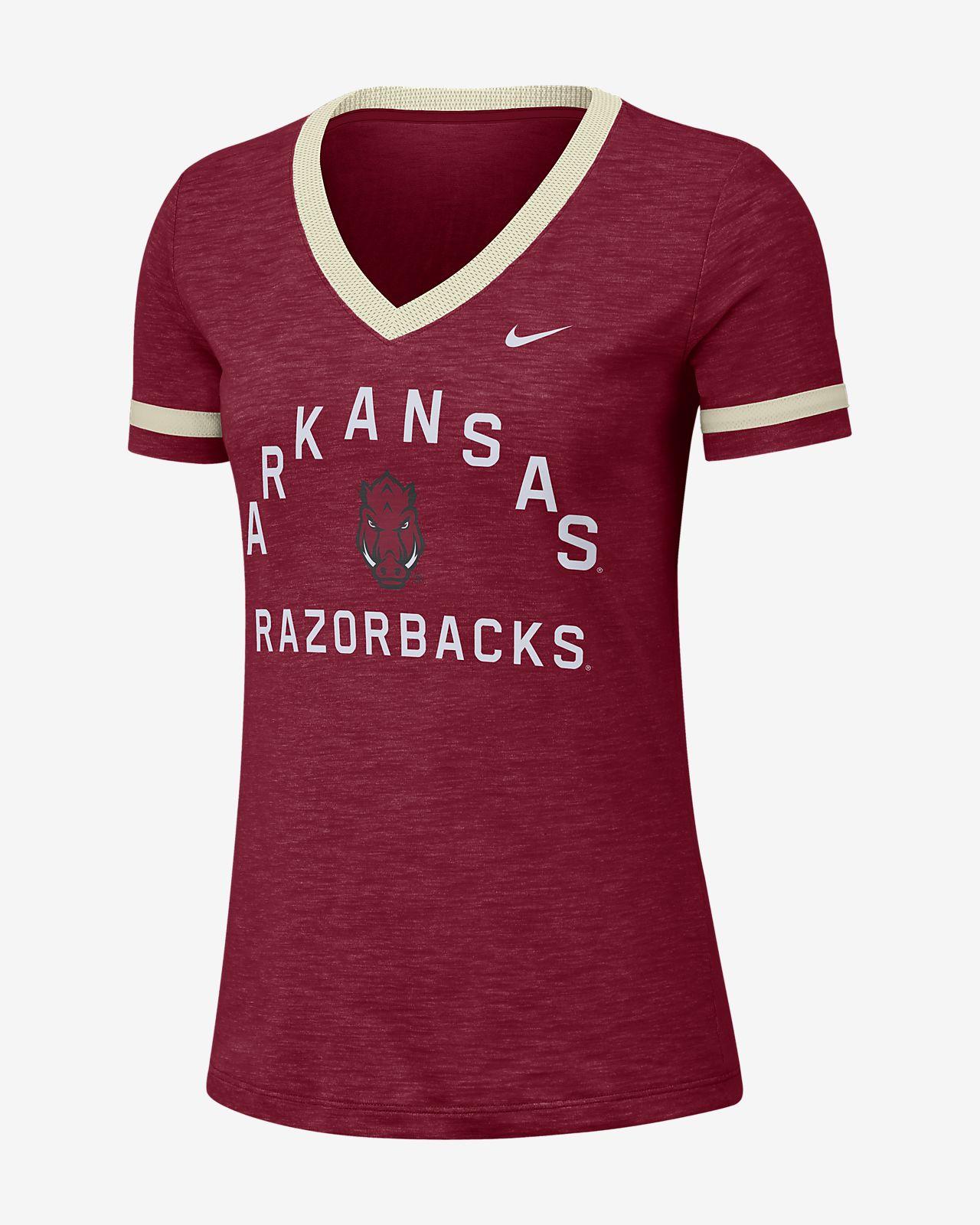 Nike College Dri-FIT Fan (Arkansas) Women's Short-Sleeve V-Neck Top