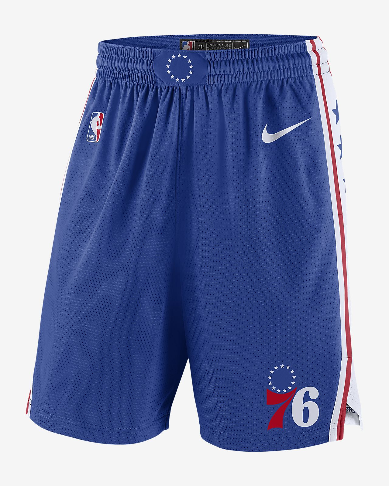 Philadelphia 76ers Icon Edition Swingman Nike NBA-Shorts für Herren