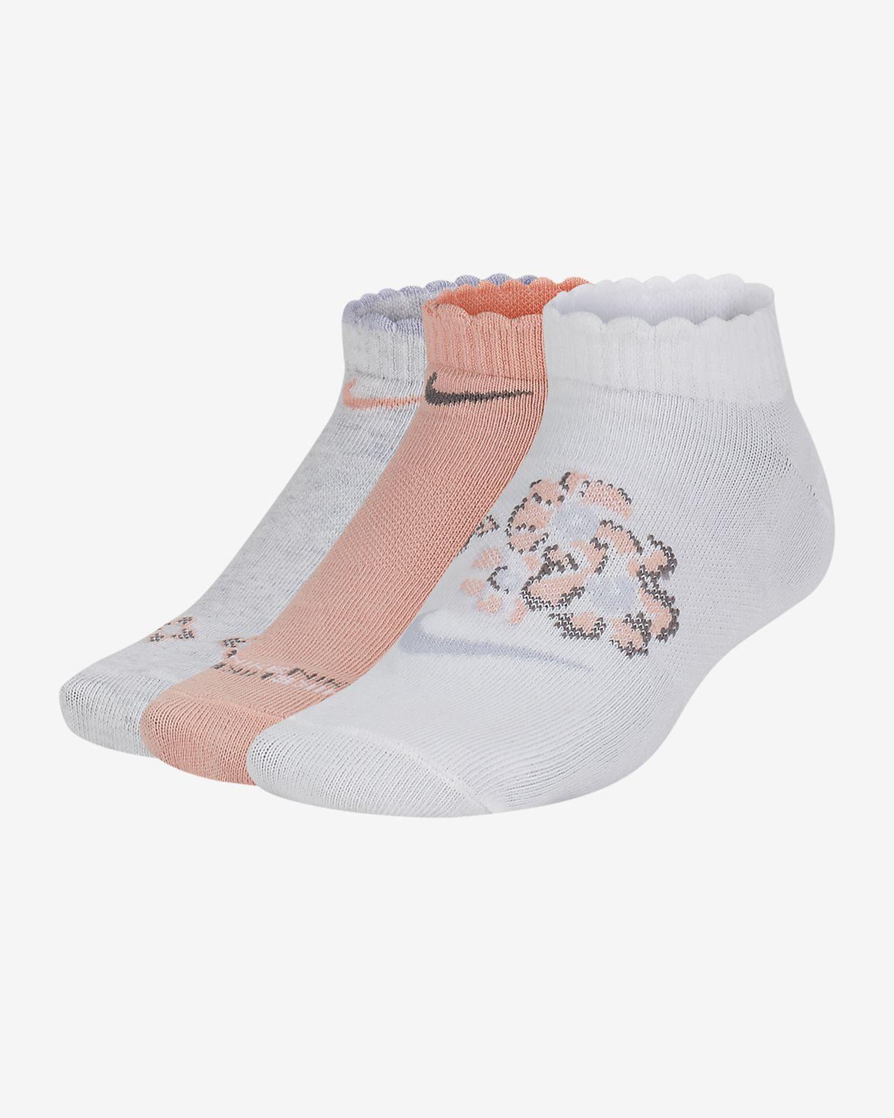 Nike Everyday Lightweight Kids' No-Show Graphic Socks (3 Pairs)