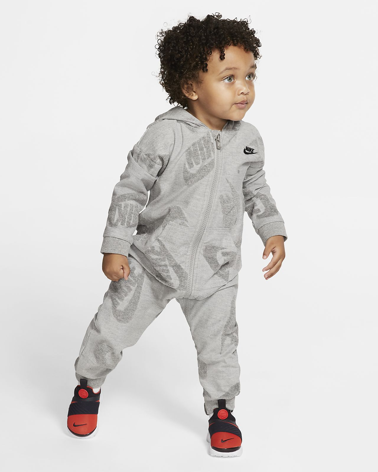 Nike Sportswear Baby (12–24M) Full-Zip Hooded Overalls