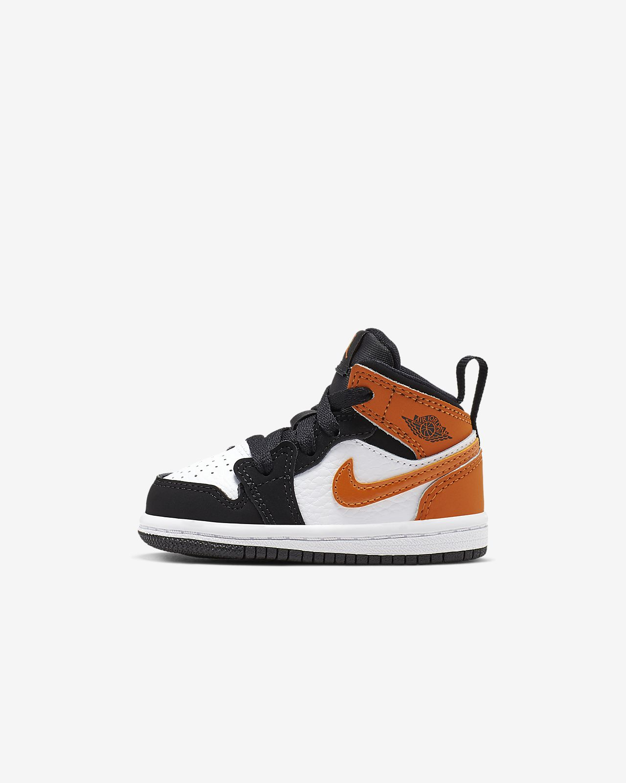 nike jordan black & brown air jordan 1 mid trainers youth