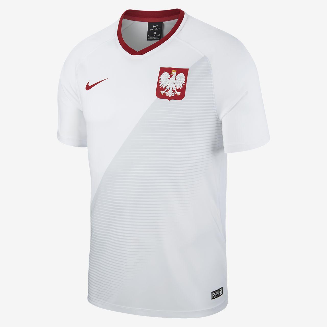 2018 Polen Stadium Home Herren Fußballtrikot