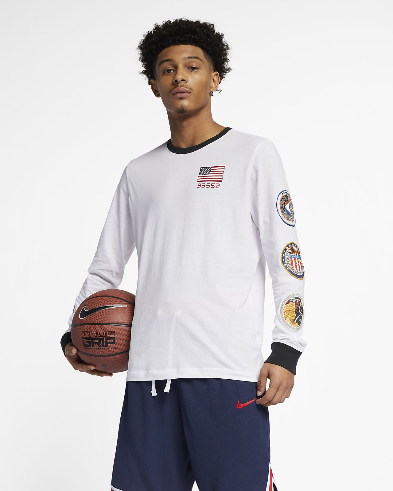 296b9c9ae3 Nike PG NASA Camiseta de baloncesto de manga larga - Hombre. Nike.com ES