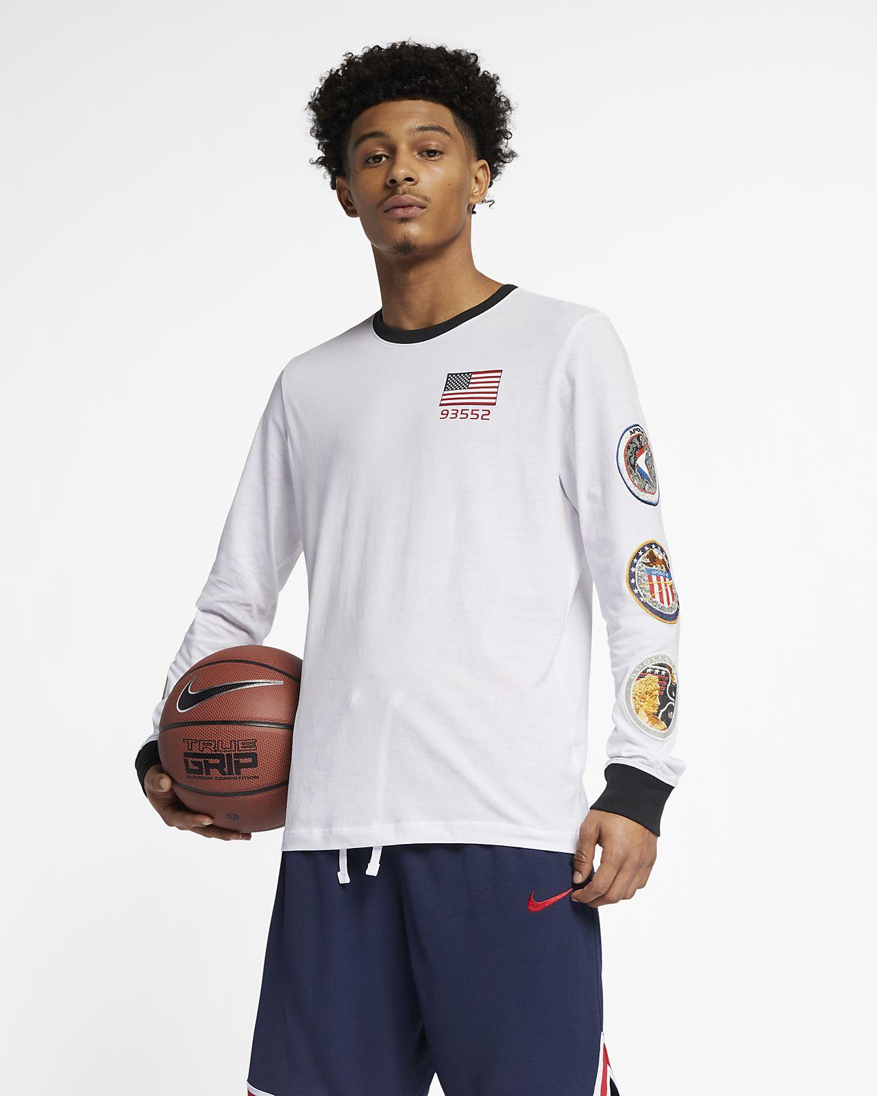 caadead901 Playera de básquetbol de manga larga para hombre Nike PG NASA. Nike ...