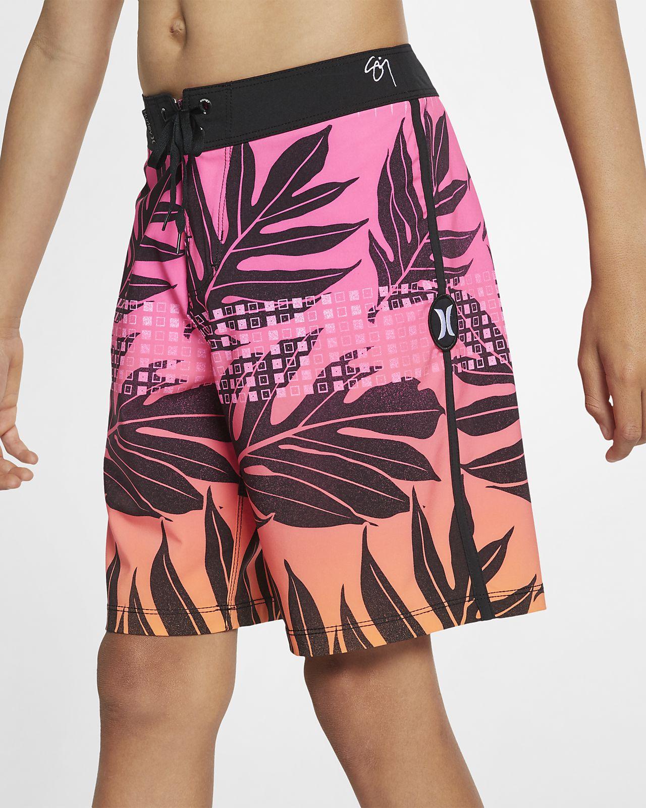 Shorts de playa de 41 cm para niño Hurley Phantom Sig Zane Moorea