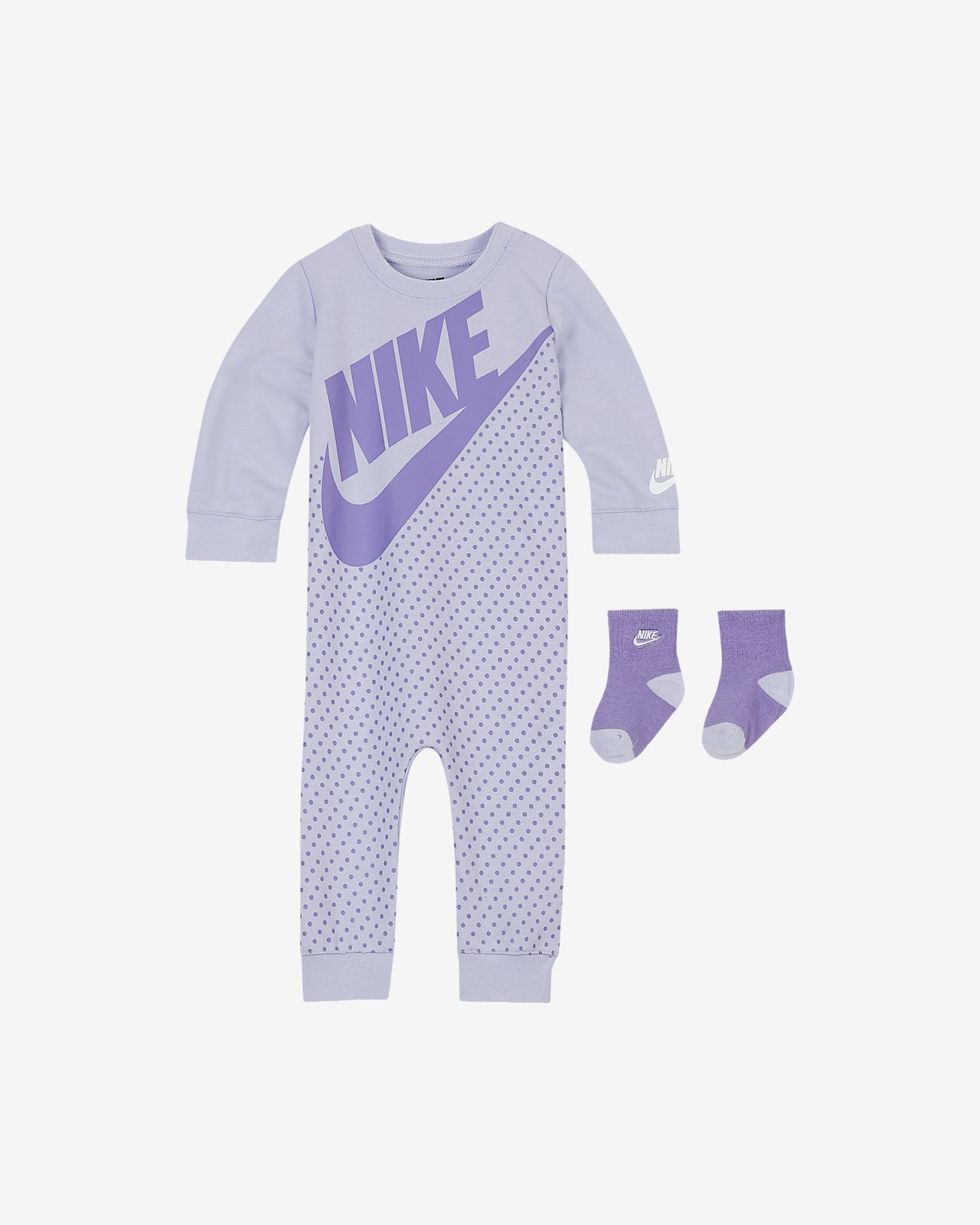 Nike Sportswear Tweedelige babyset met coverall en sokken (0-9 maanden)
