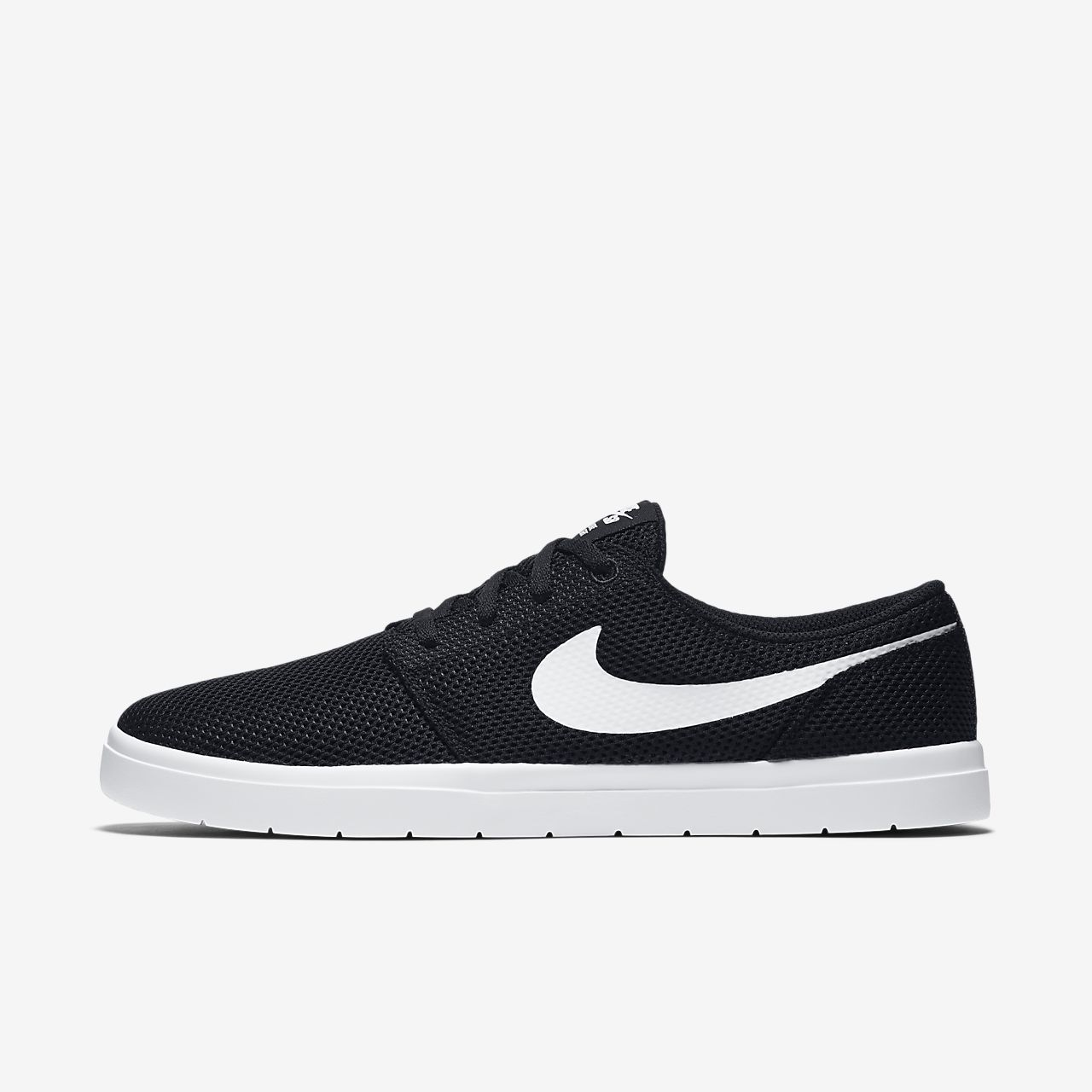 Nike SB Portmore II Boys Skateboarding Shoes Black/White mE4274P