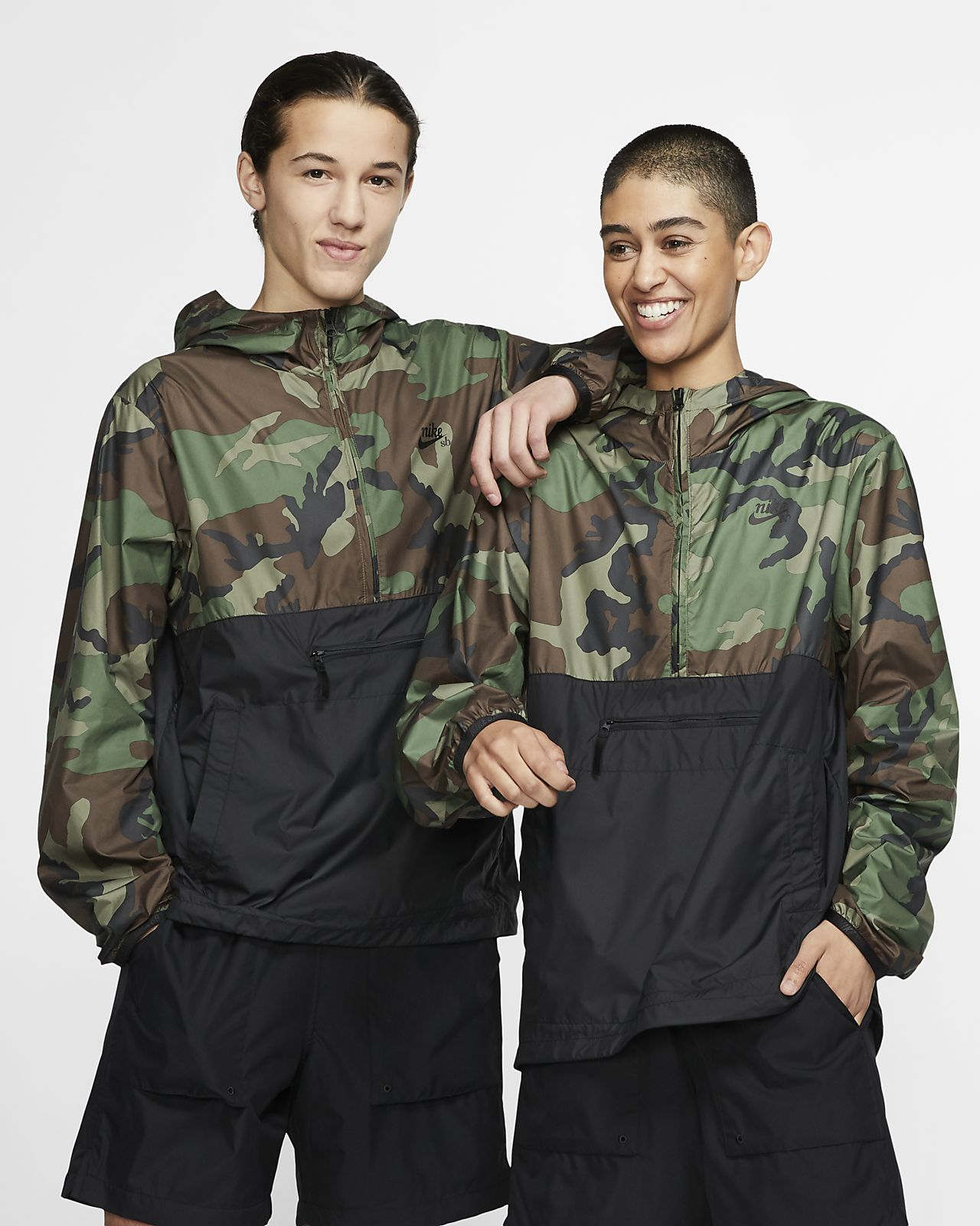 Nike SB Men's Camo Skate Anorak Jacket