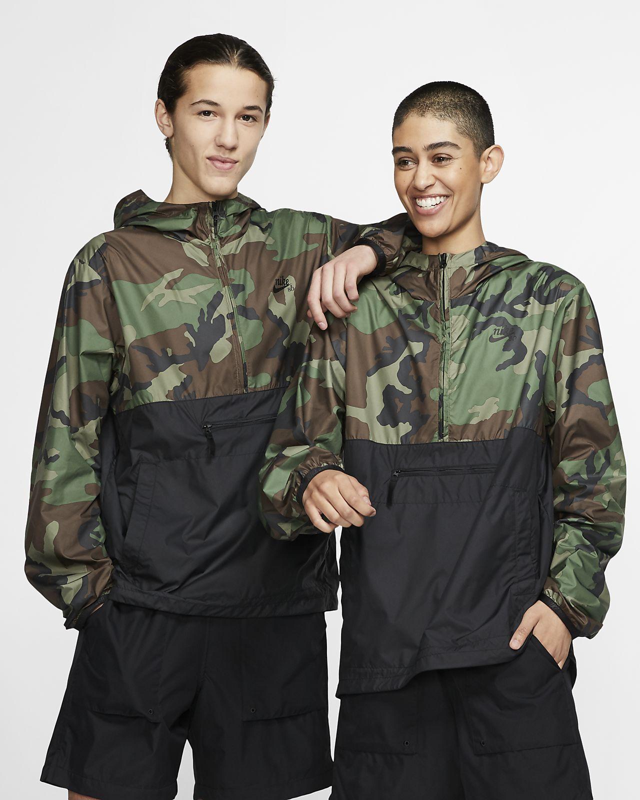 Veste anorak de skateboard camouflage Nike SB