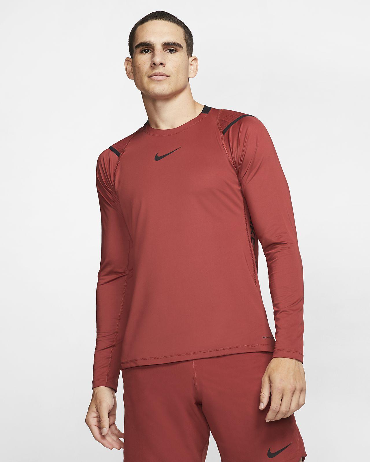 Prenda para la parte superior de manga larga para hombre Nike Pro AeroAdapt