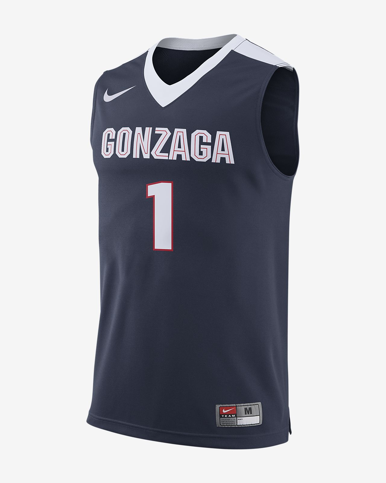 half off b6b27 f628d Nike College Replica (Gonzaga) Men's Basketball Jersey