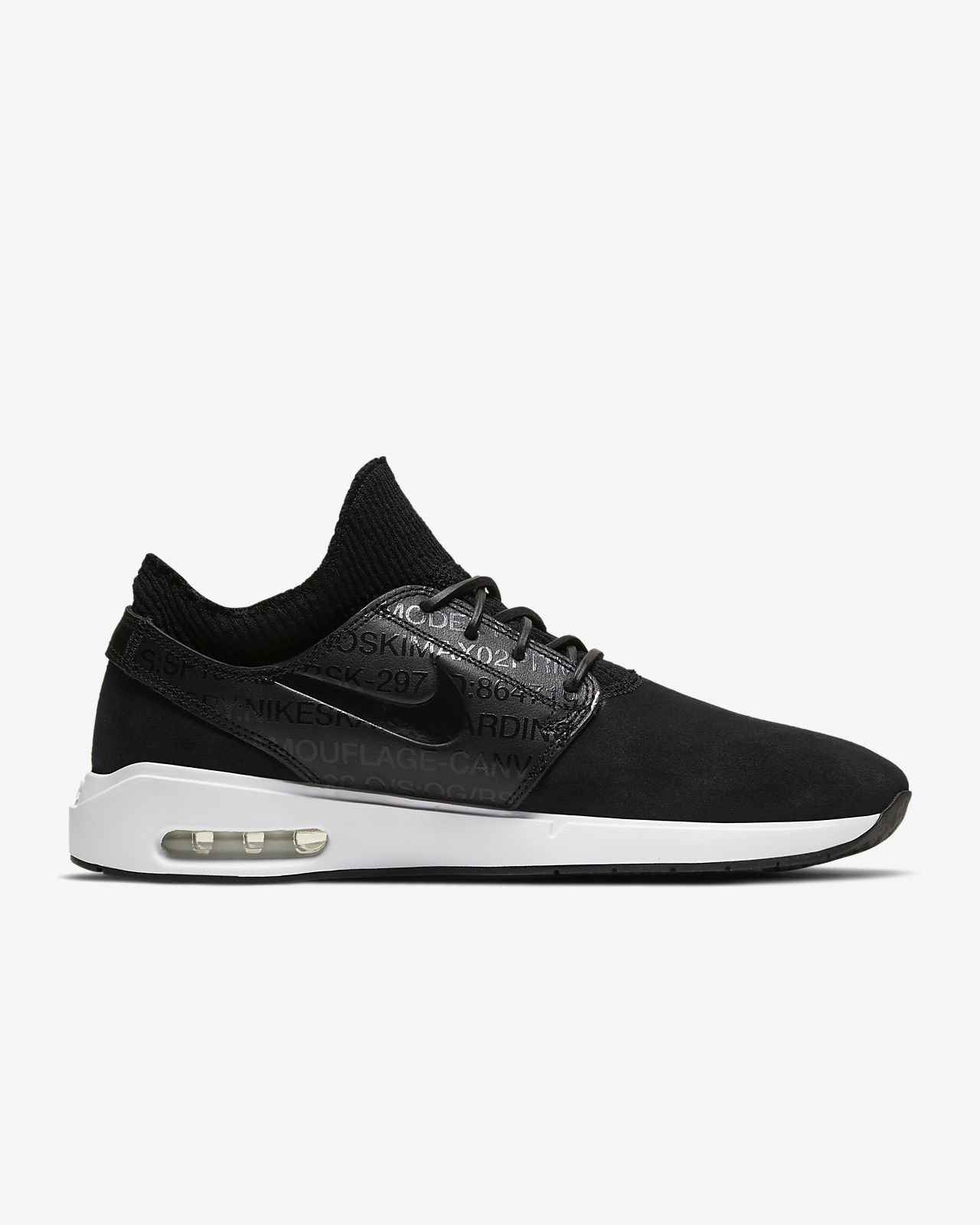 Nike Sb Kinder Janoski Air Max Black & White Skate Schuhe